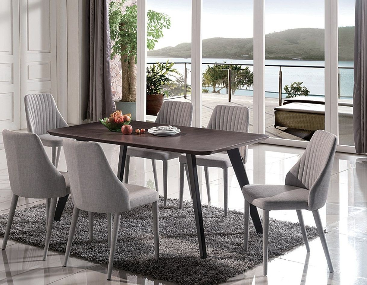 baur gray rectangular dining room set 18224 dt j m