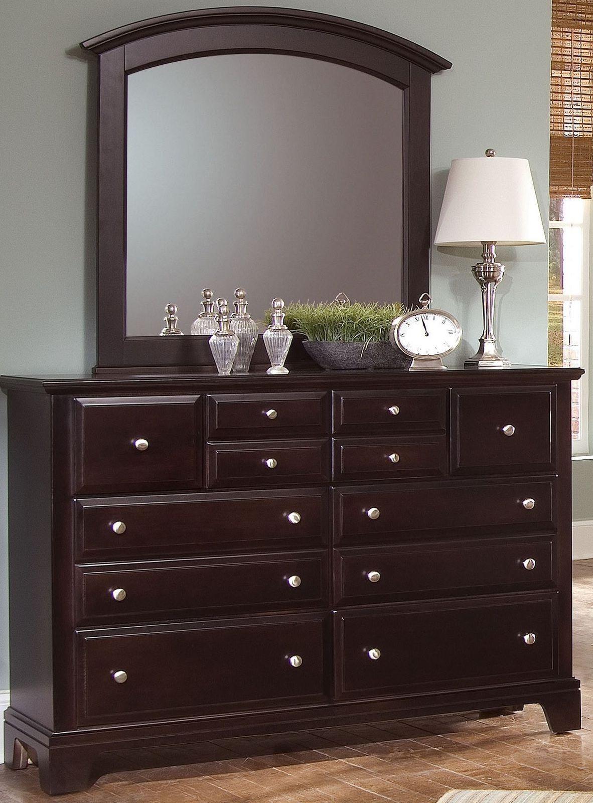 Hamilton Franklin Merlot Panel Bedroom Set BB4 558 855 922 Vaughan Bassett