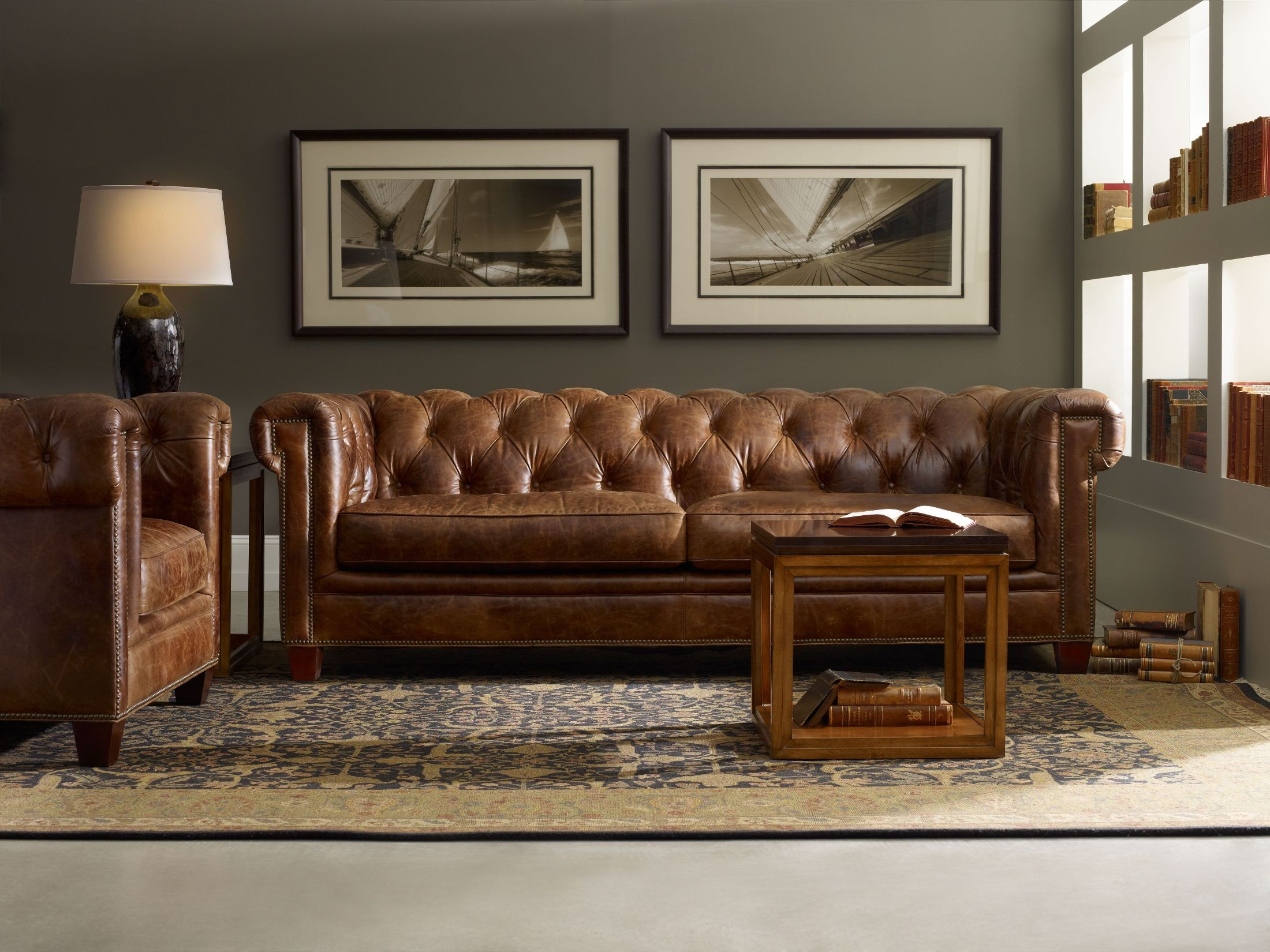 Chester Dark Walnut Living Room Set Ss195 03 087 Hooker Furniture