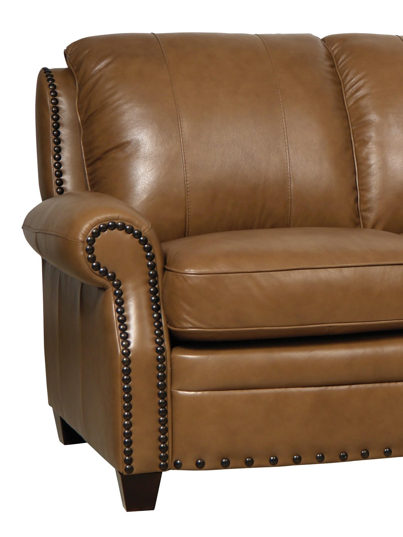 Bennett Wheat Finish Italian Leather Sofa Luk Bennett S