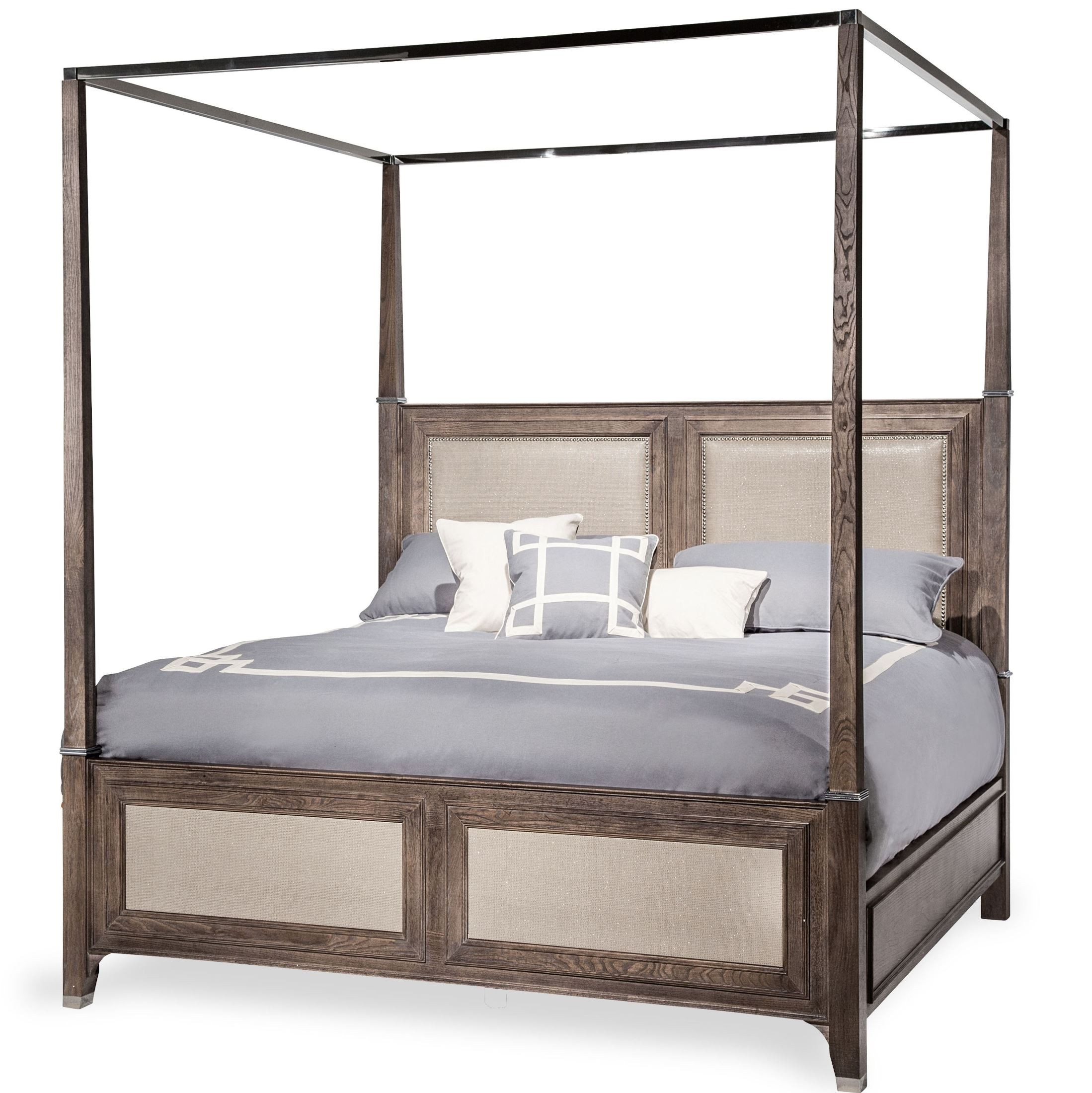 Biscayne West Haze Cal King Canopy Bed 80000ckcp5 200