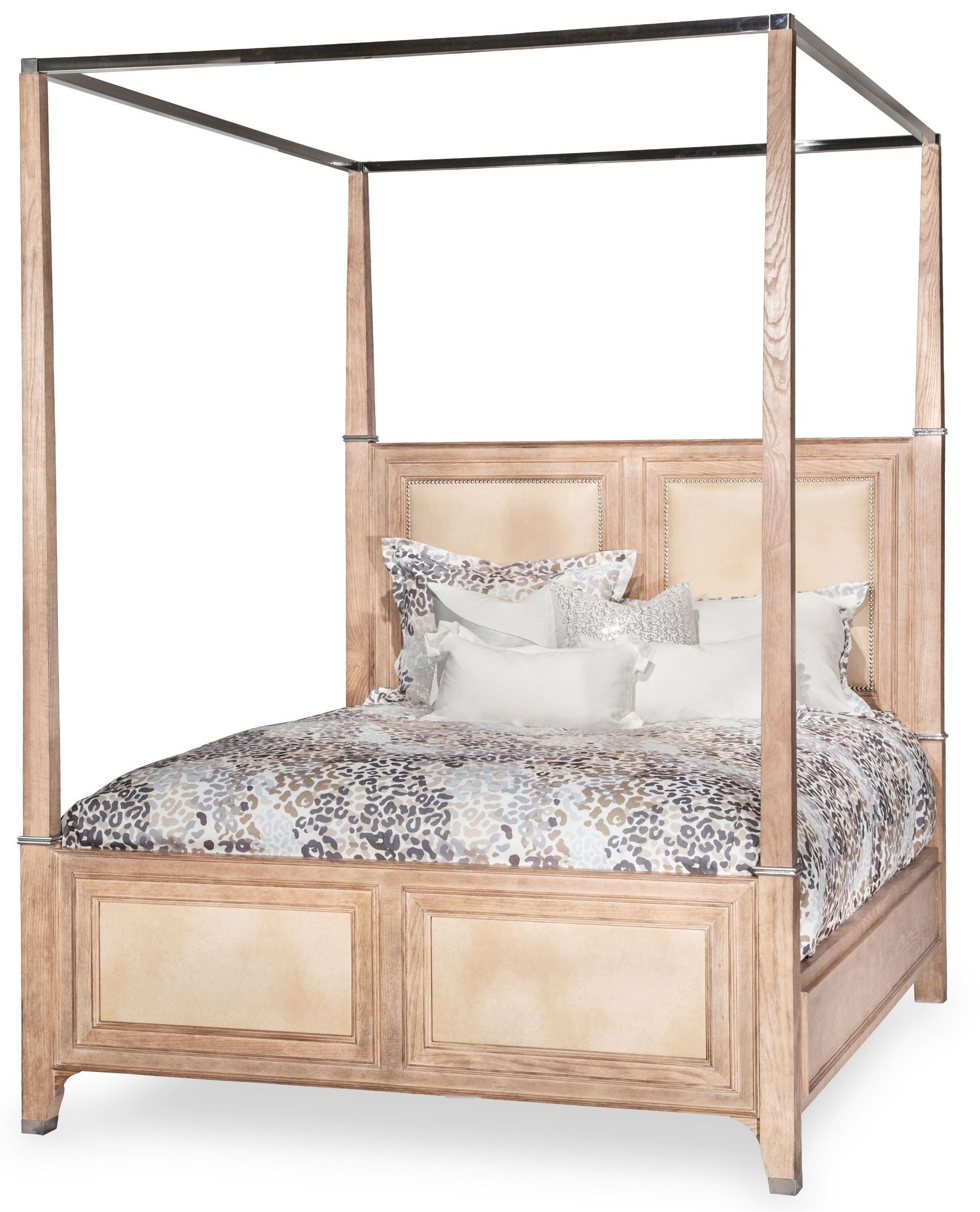 Biscayne West Sand Cal King Canopy Bed From Aico