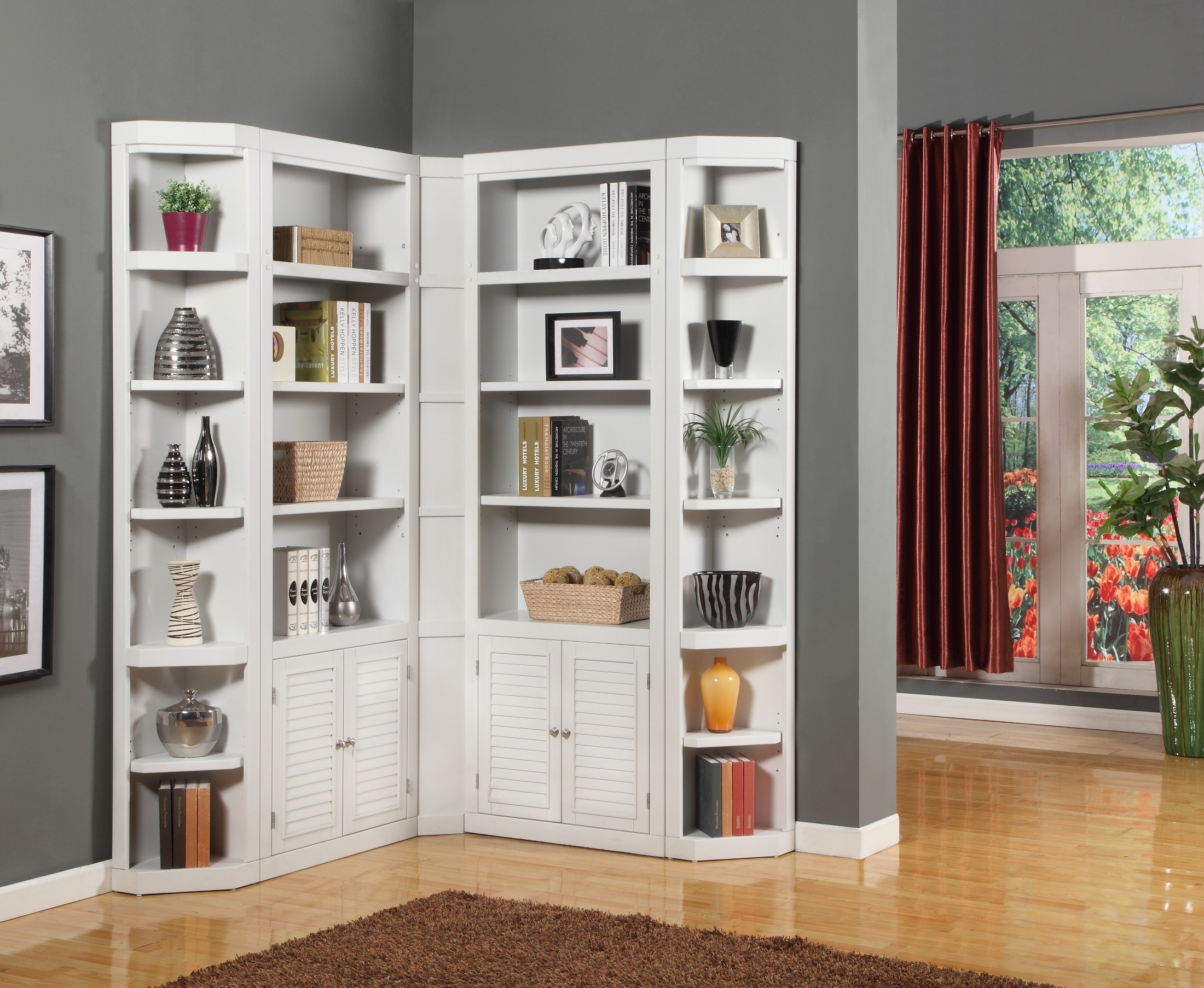 Boca L Shape Bookcase Wall from Parker House  Coleman Furniture