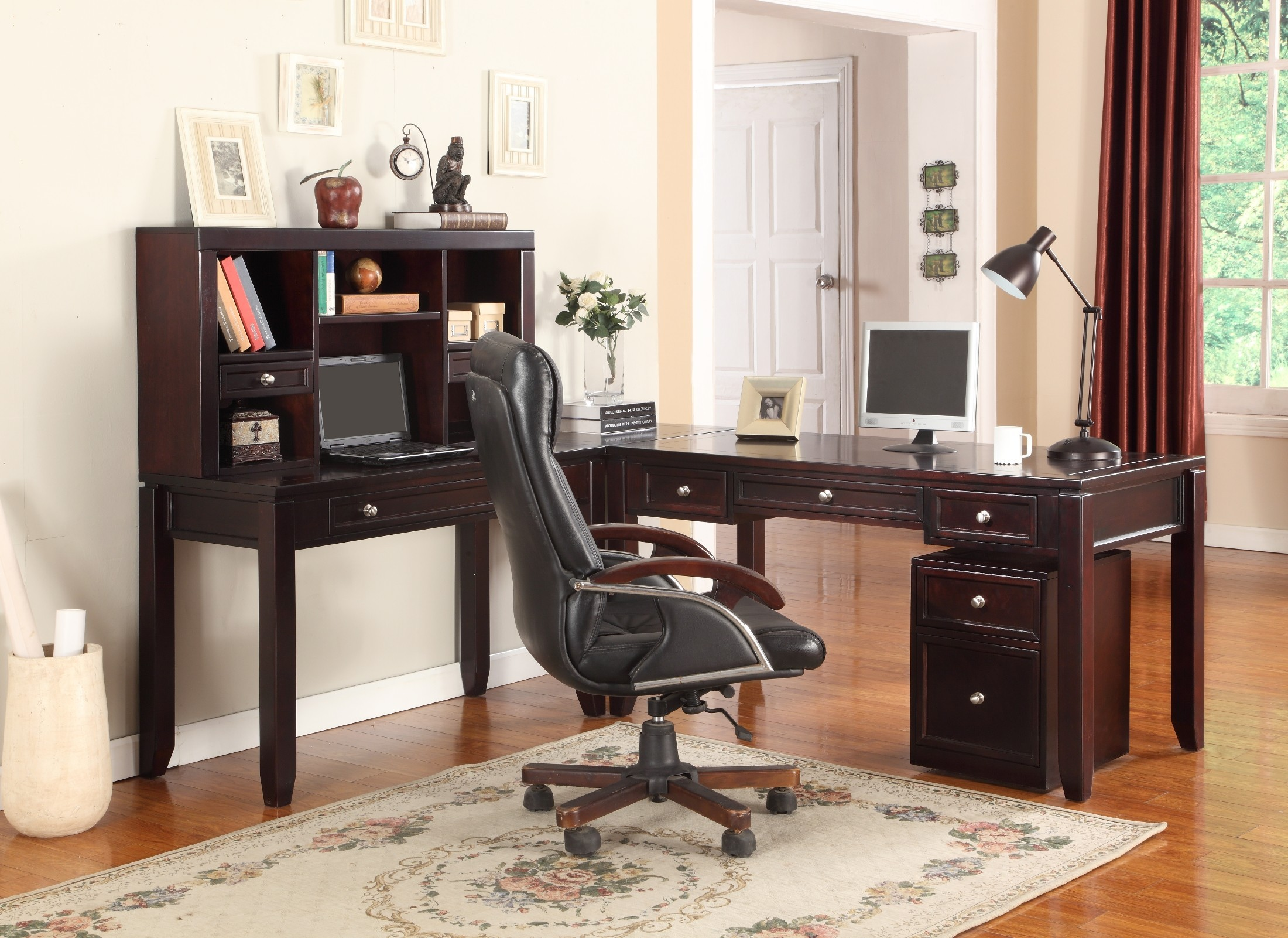 Boston L Shape Home Office Set From Parker House Bos 347d
