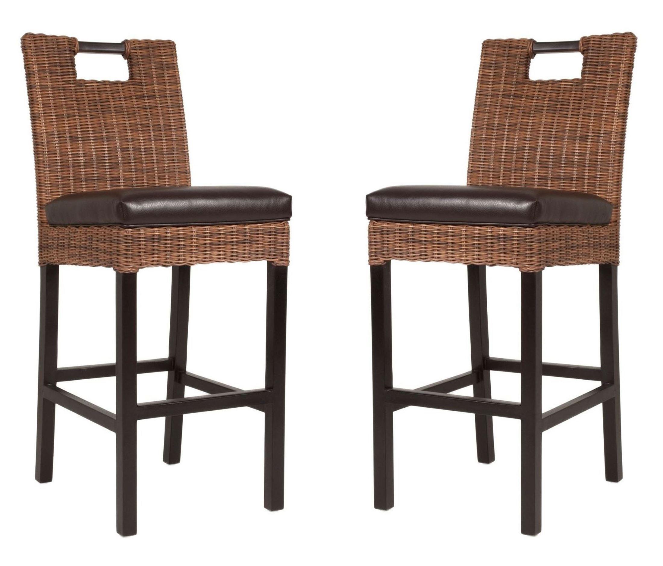 Boston Havana Bonded Leather Barstool Set Of 2 6846 Hav