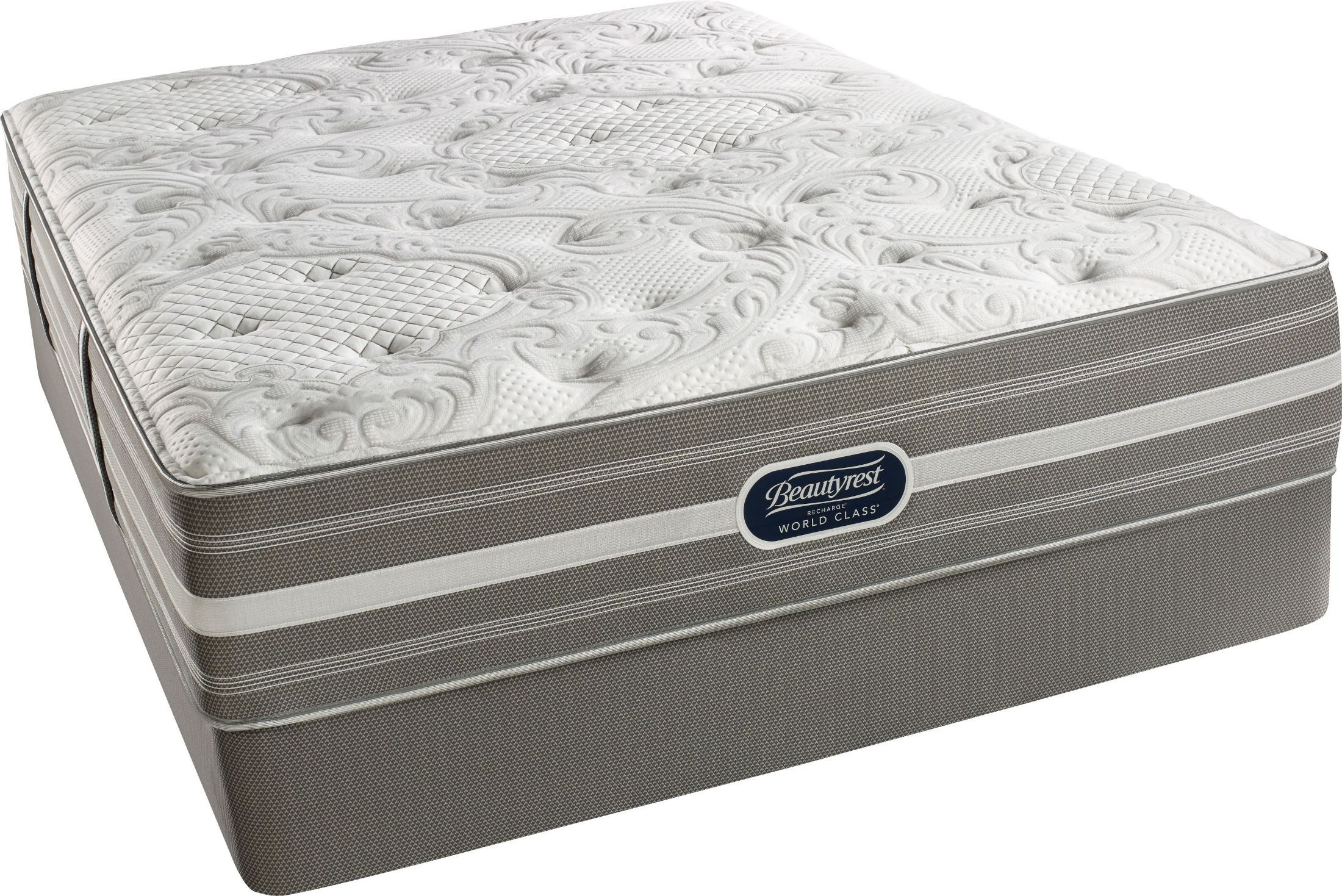 Recharge Chasewood Cal King Pillow Top Luxury Firm Mattress With Foundation Recharge Chasewood