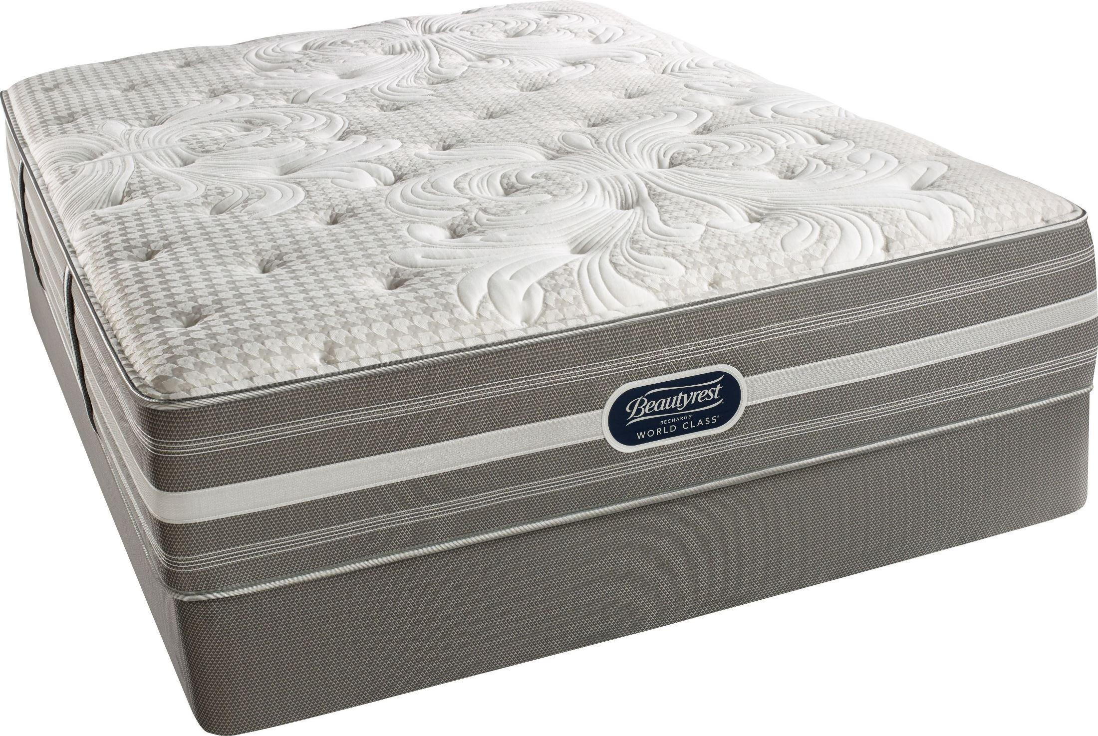 Recharge Chasewood Twin Plush Mattress With Foundation Recharge Chasewood Plush Twin With