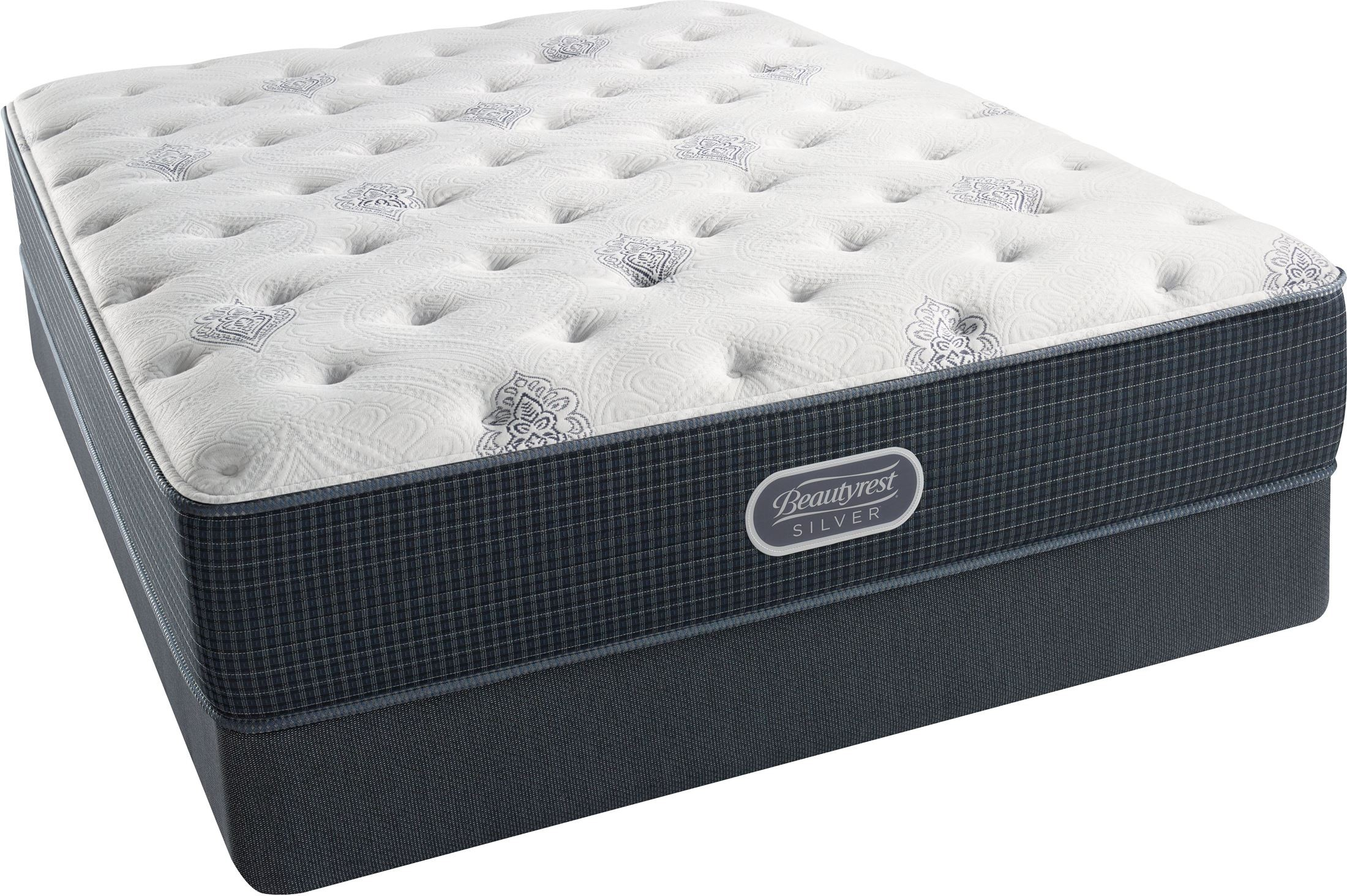 Br recharge br silver offshore mist tight top plush queen size mattress with foundation Queen size mattress price
