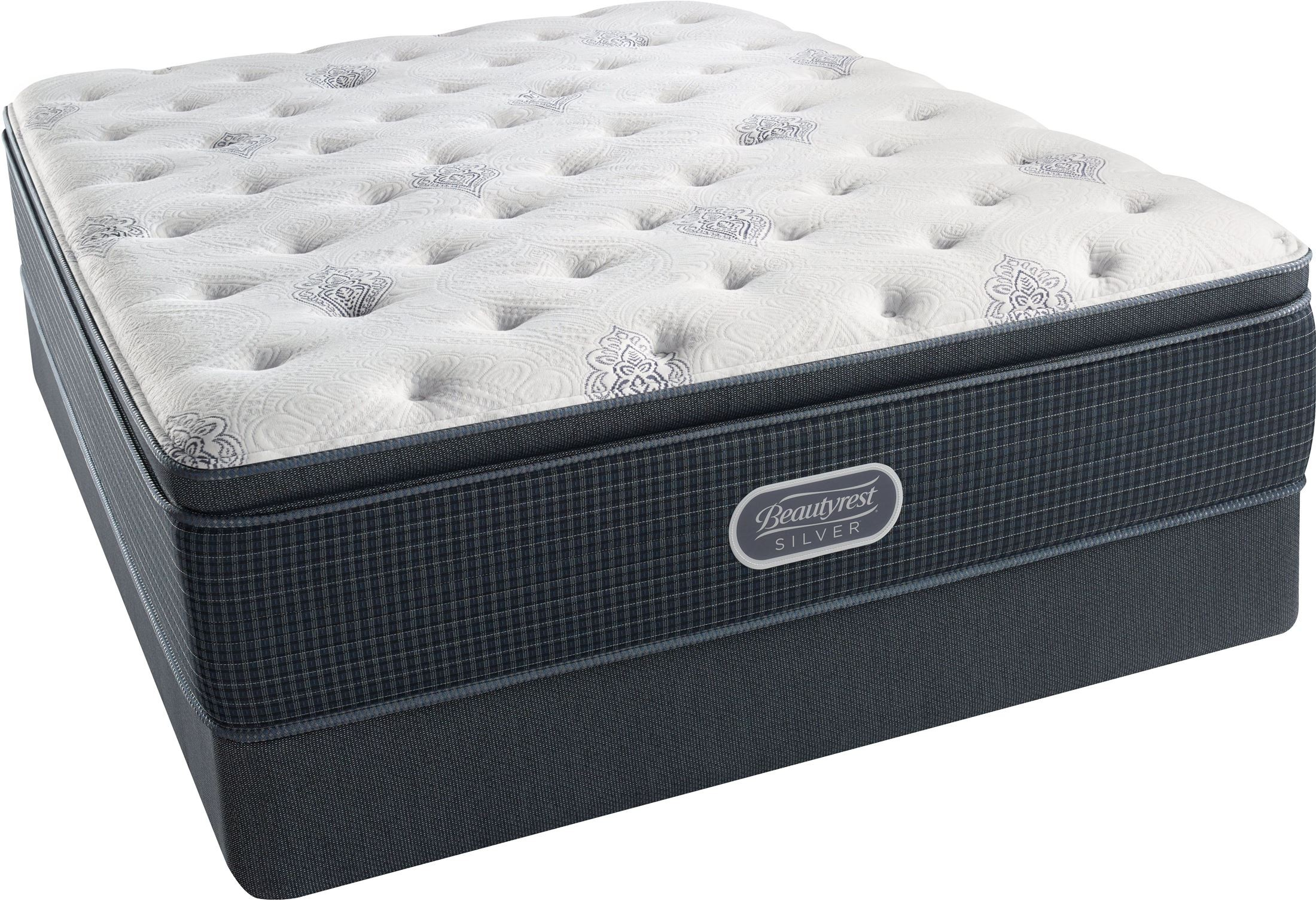 BR Recharge-BR Silver Offshore Mist Pillow Top Plush King ...