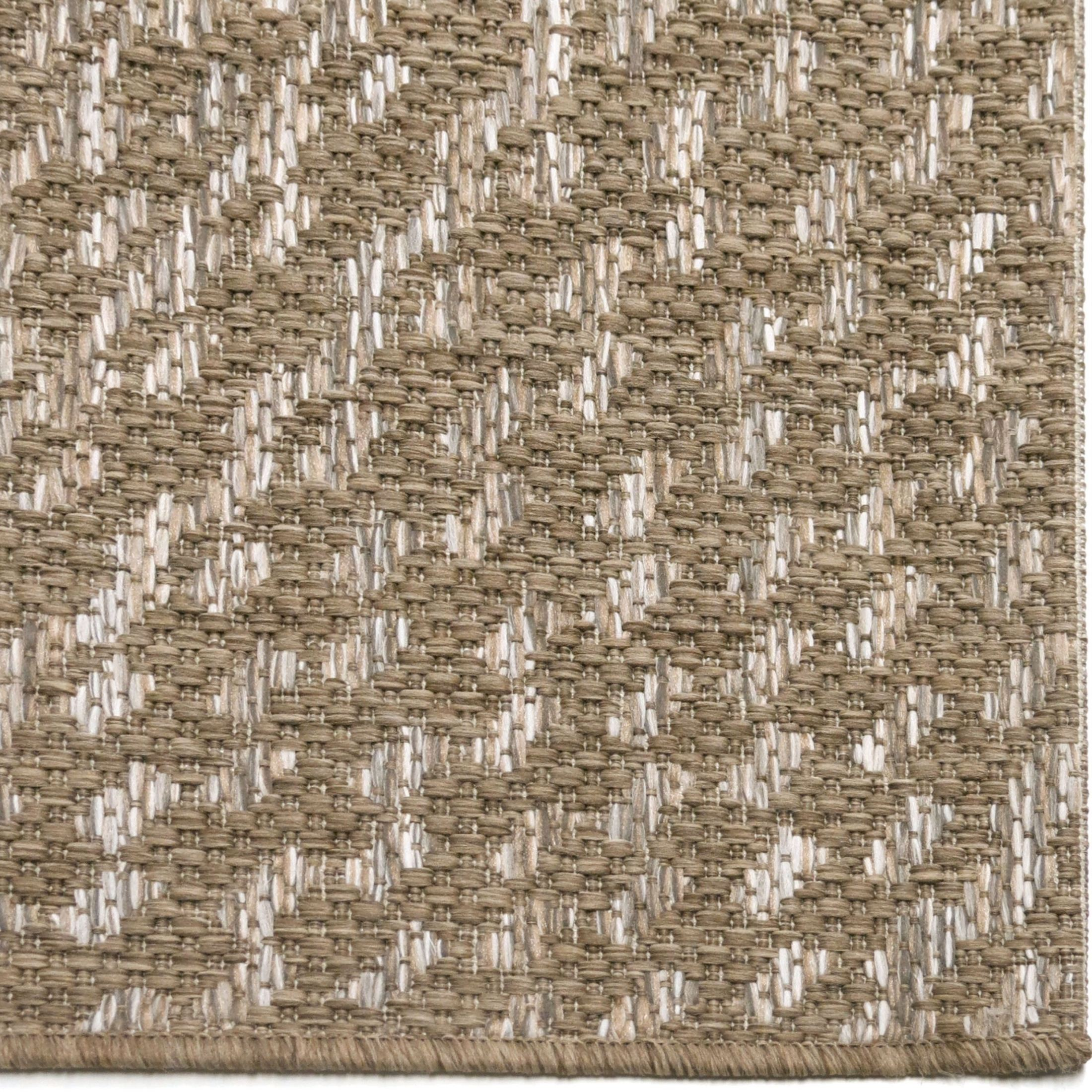 Gray 8x11 Area Rugs: Orian Rugs Indoor/Outdoor Circles Cerulean Gray/ Brown