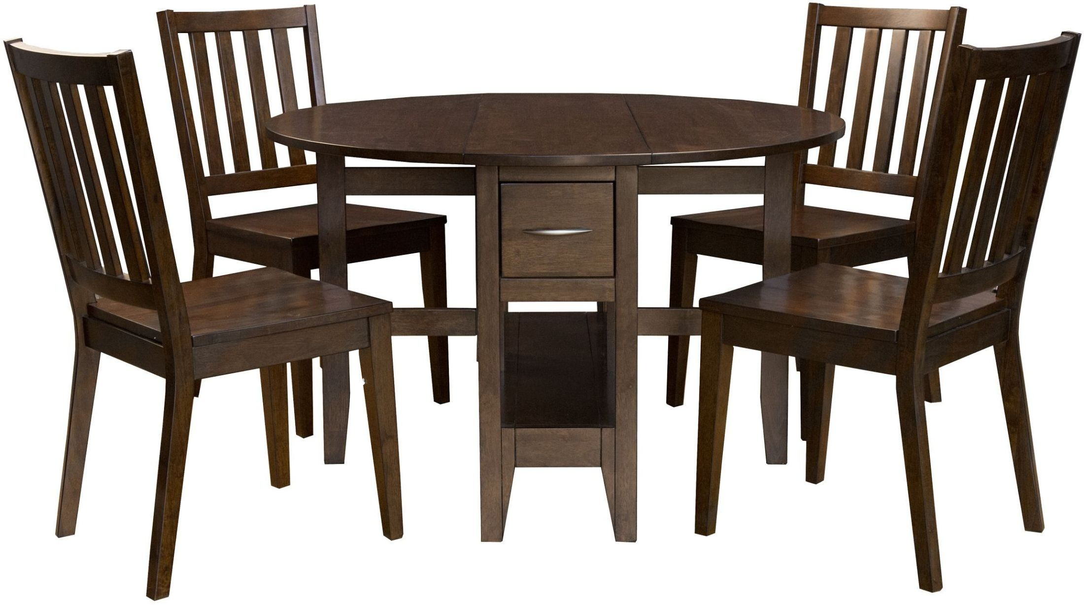 Brooklyn heights dark grey gate leg dining table for One leg dining table
