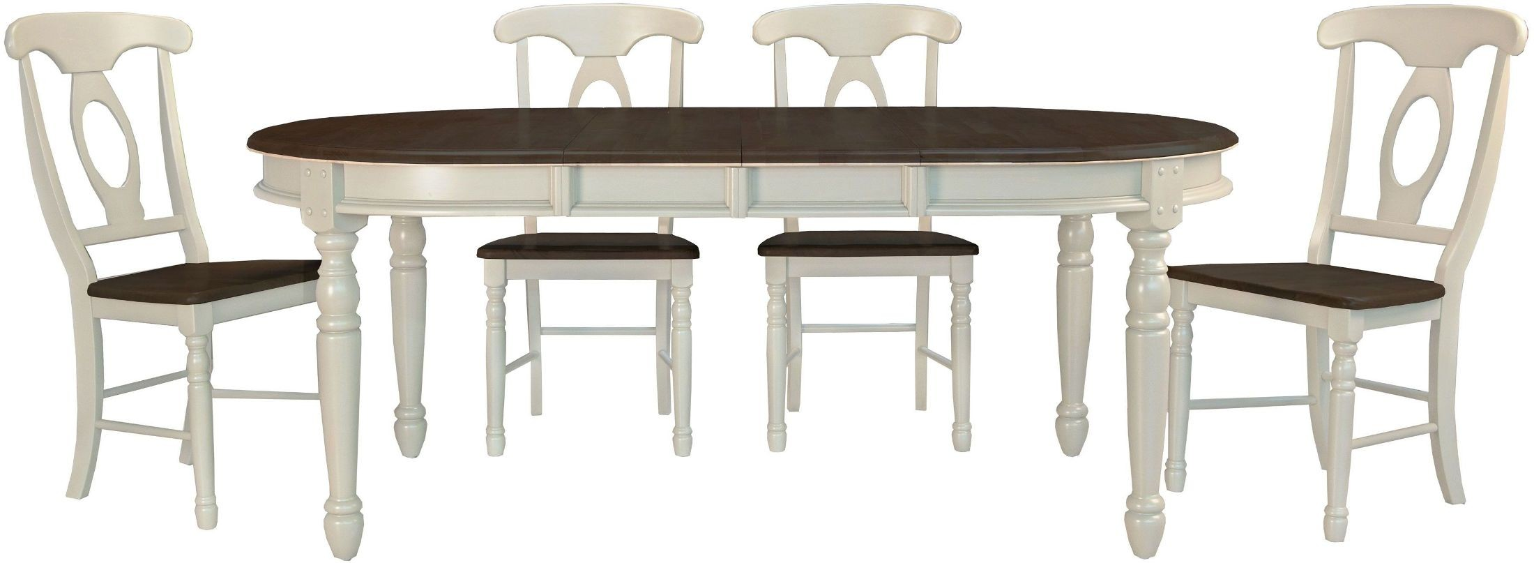 isles chalk 76 extendable oval dining room set brico6310 a america