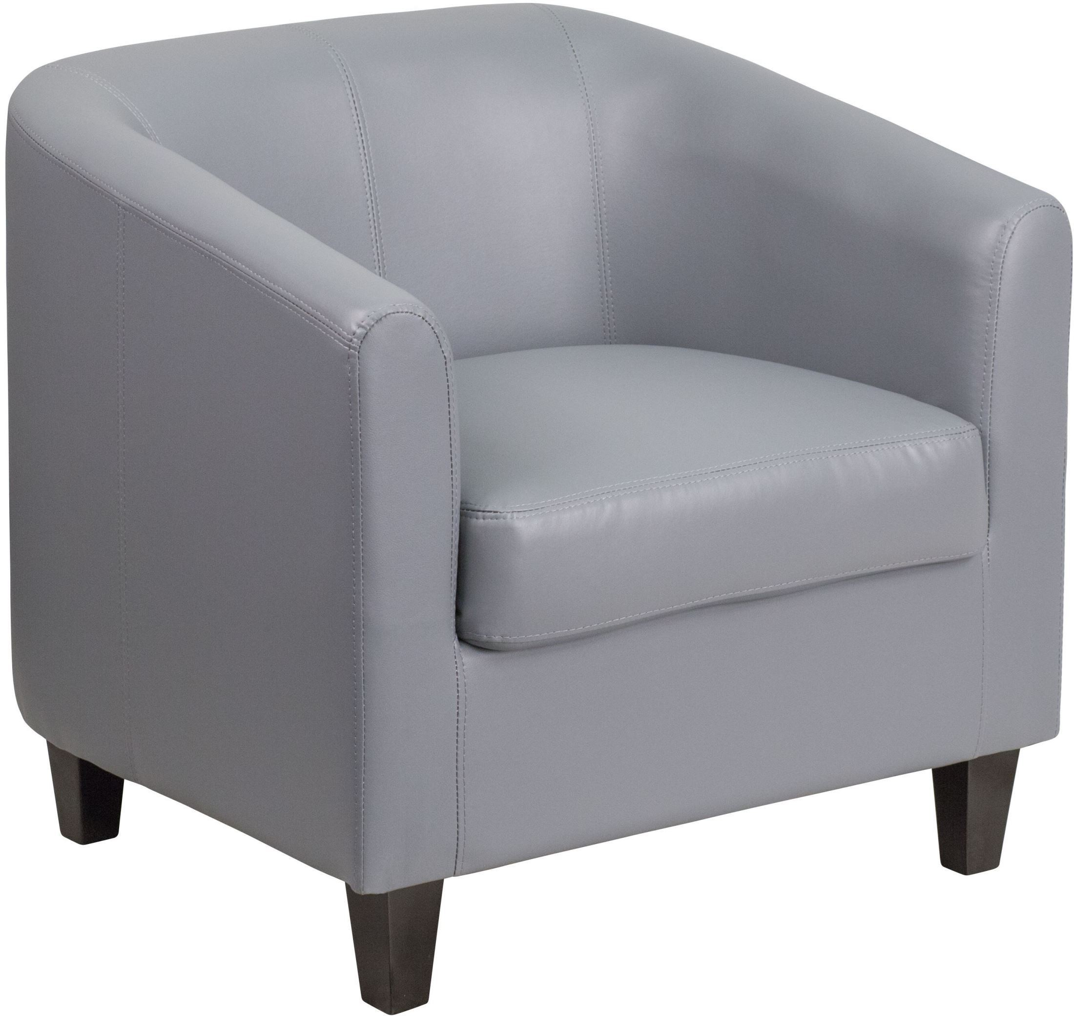 gray leather office reception chair bt 873 gy gg