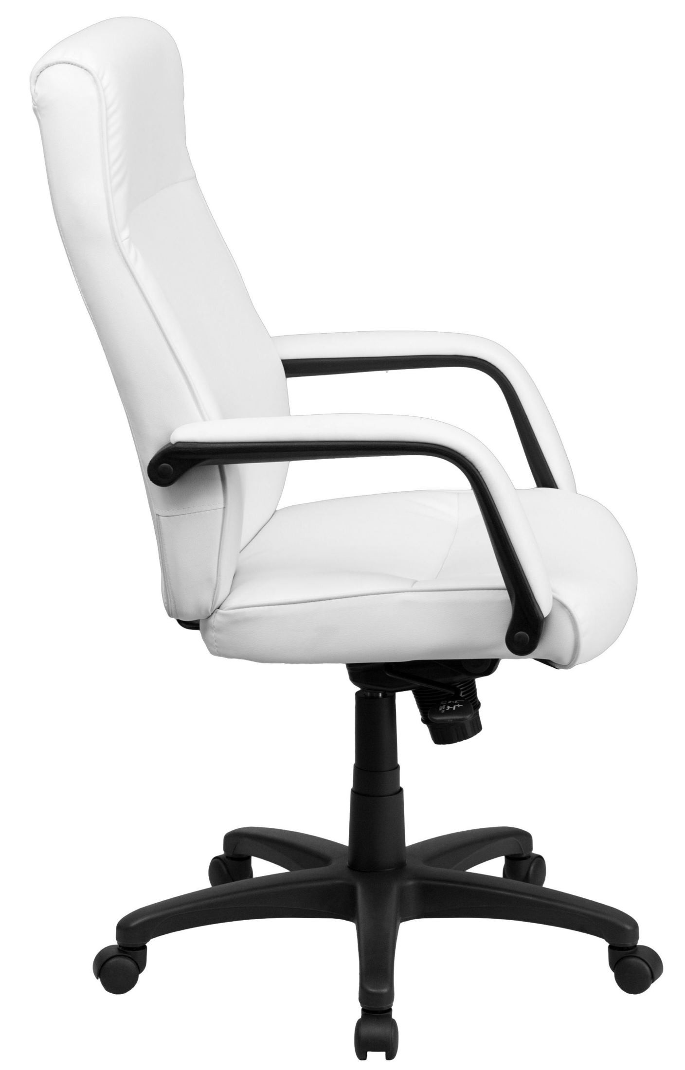 high back white leather executive office chair from renegade bt