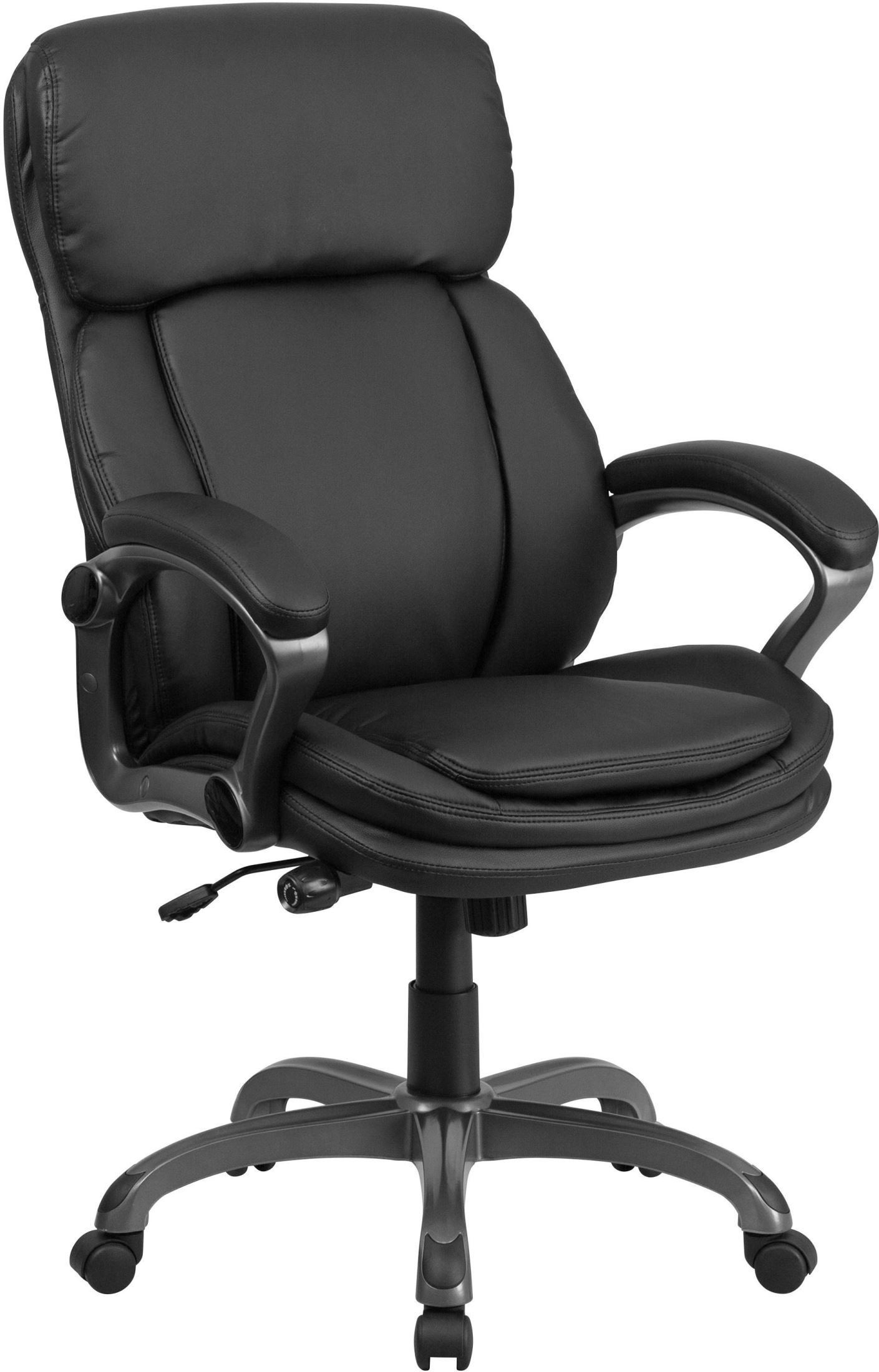tall black executive swivel office chair with lumbar support knob bt 90272h gg renegade furniture. Black Bedroom Furniture Sets. Home Design Ideas