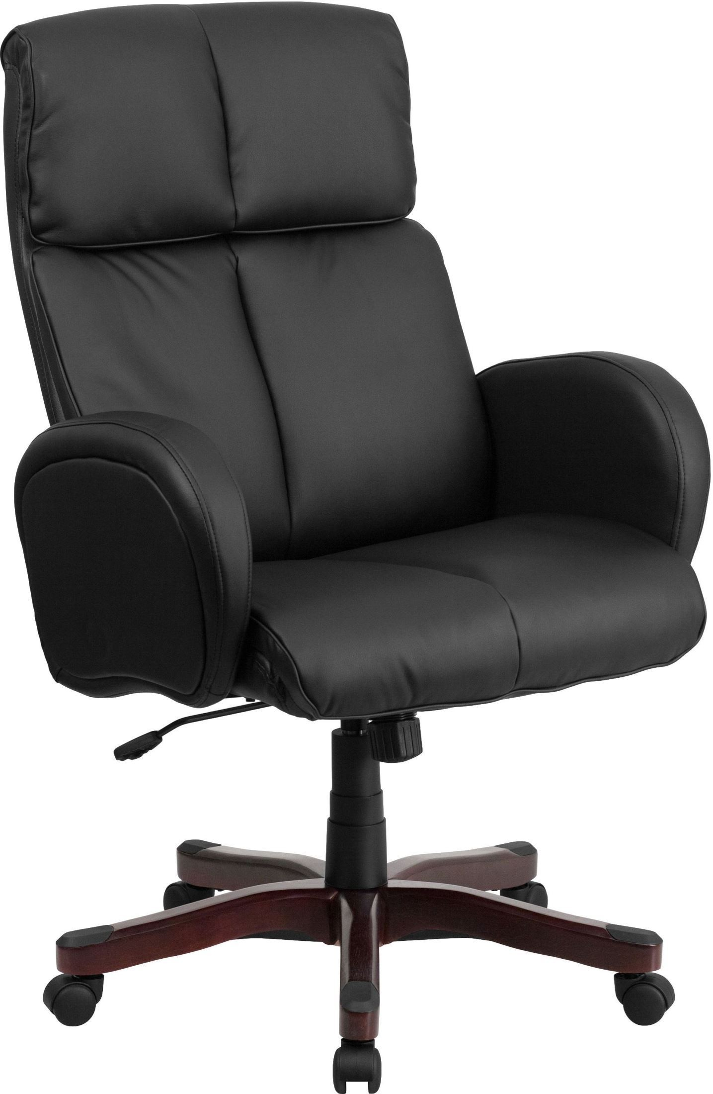 Tall black executive swivel office arm chair bt 9028h 1 for Swivel chairs for office