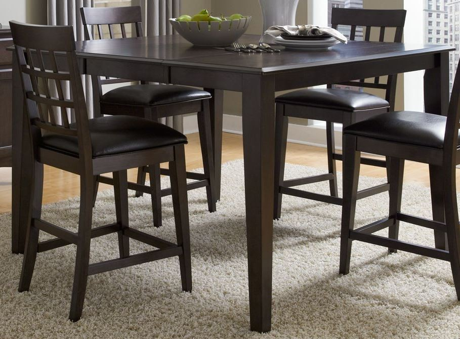 bristol point 54 warm grey extendable square gathering height dining table btlwg6750 a america. Black Bedroom Furniture Sets. Home Design Ideas