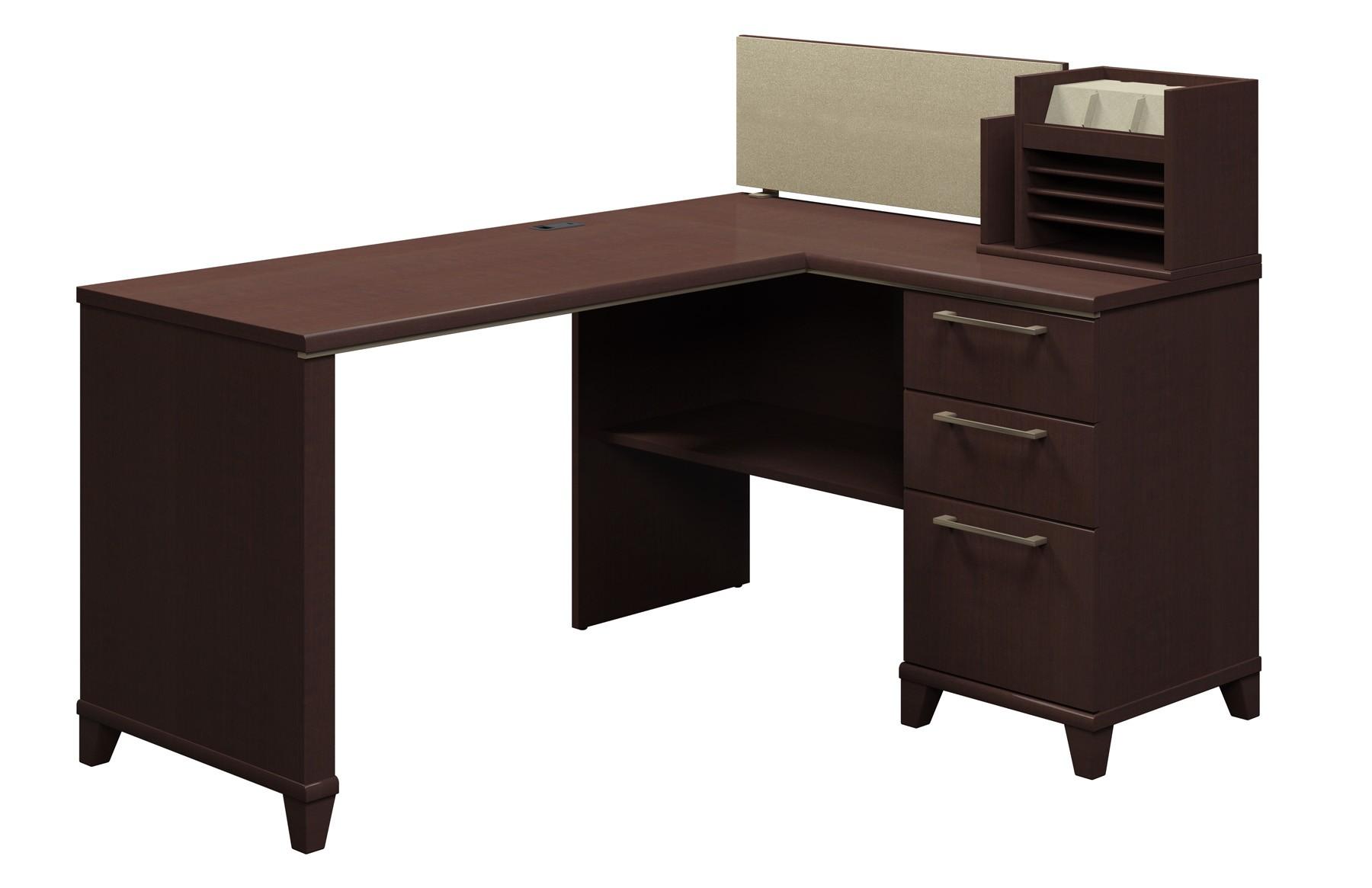 Enterprise Mocha Cherry 60 Inch Corner Desk from Bush