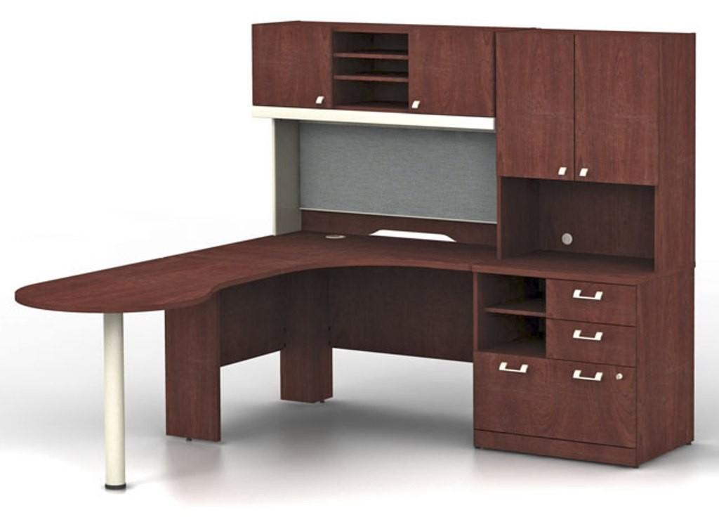 harvest cherry office set from bush qua005csl coleman furniture