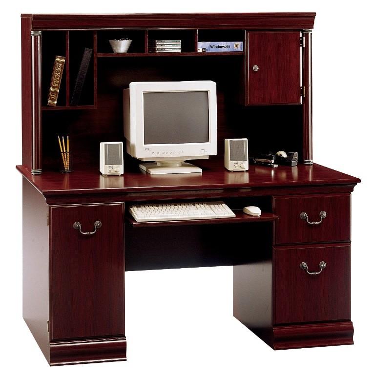 Birmingham harvest cherry desk hutch from bush wc26620 03 coleman furniture - Cherry wood computer desk with hutch ...