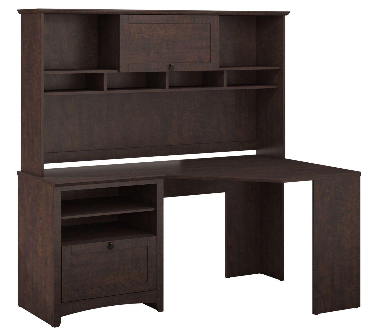 buena vista madison cherry corner desk with hutch from bush buv008msc coleman furniture. Black Bedroom Furniture Sets. Home Design Ideas