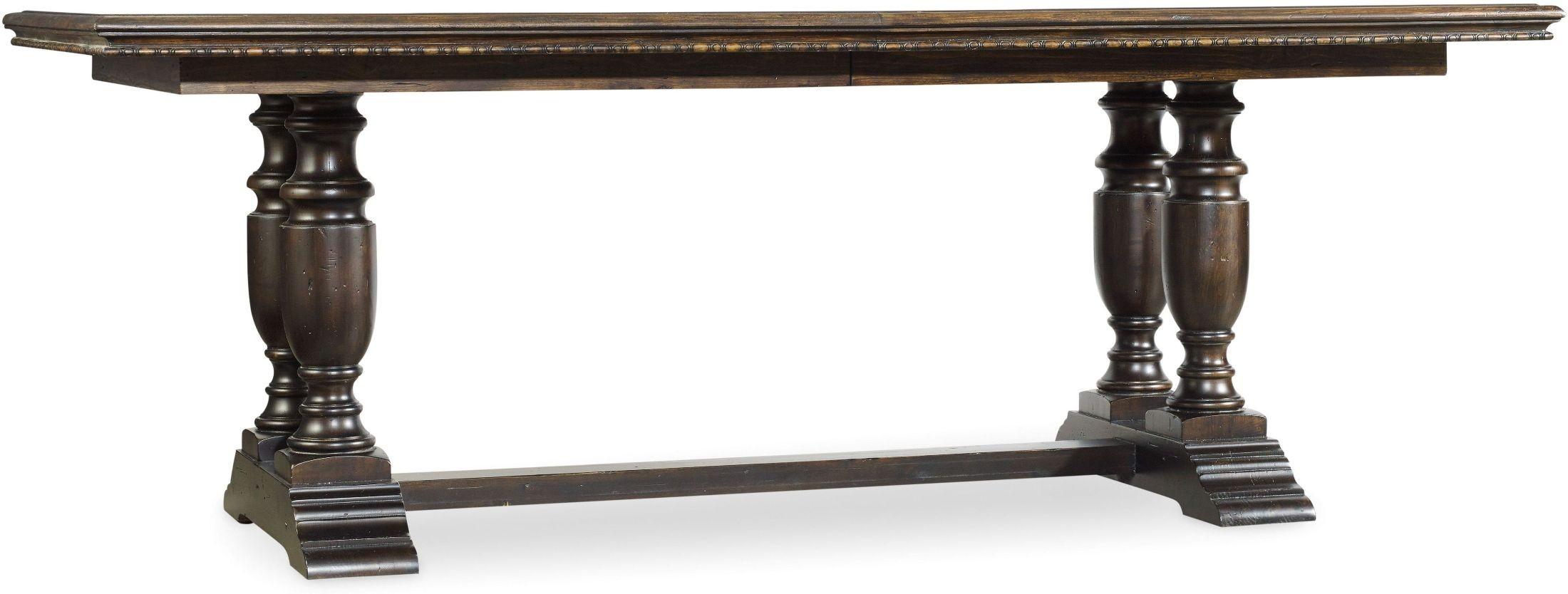 treviso gold extendable trestle dining table 5374 75207 hooker furniture. Black Bedroom Furniture Sets. Home Design Ideas