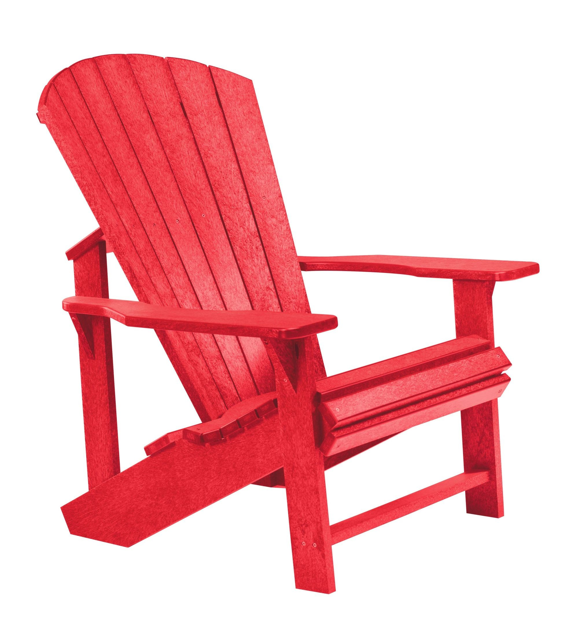 Generations Red Adirondack Chair from CR Plastic (C01-01 ...