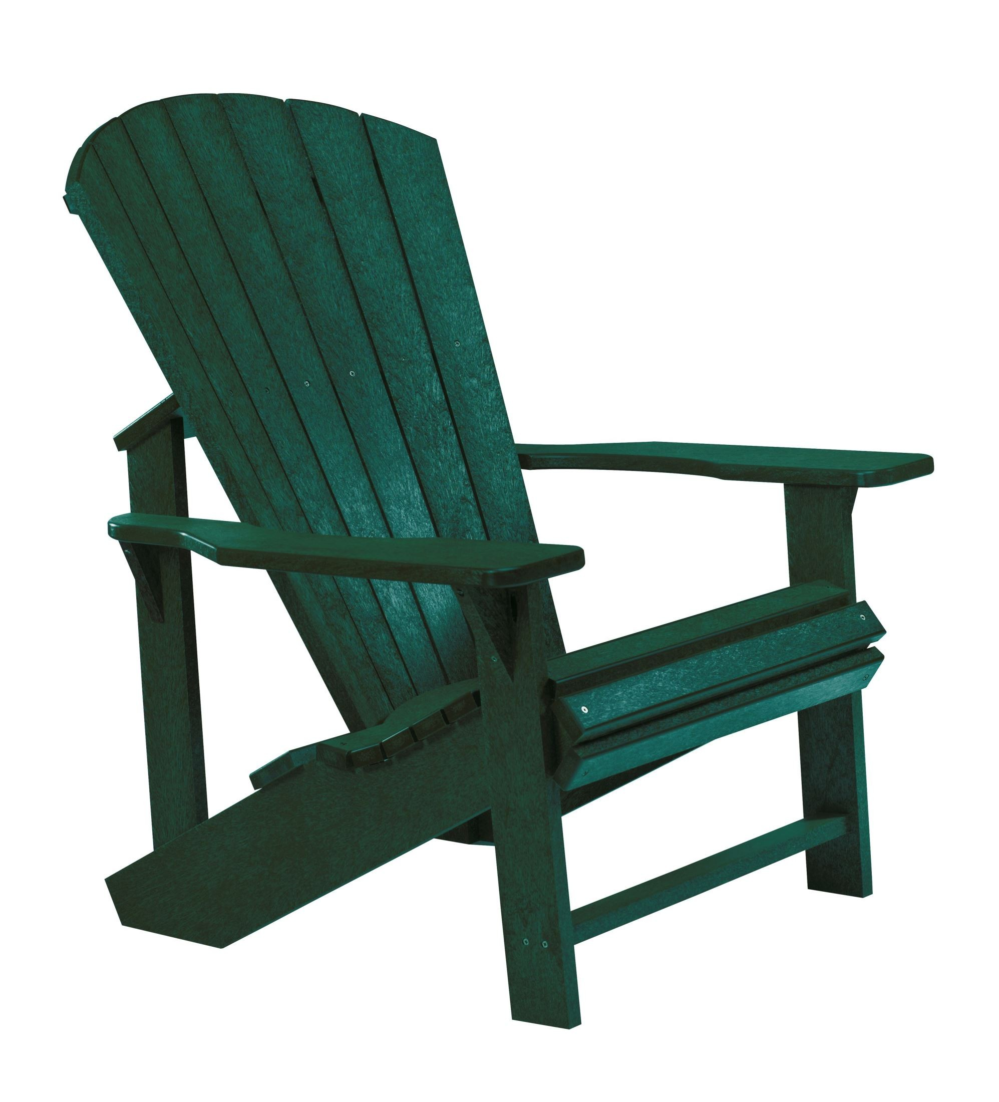 Generations green adirondack chair from cr plastic c01 06 coleman furniture - Green resin adirondack chairs ...