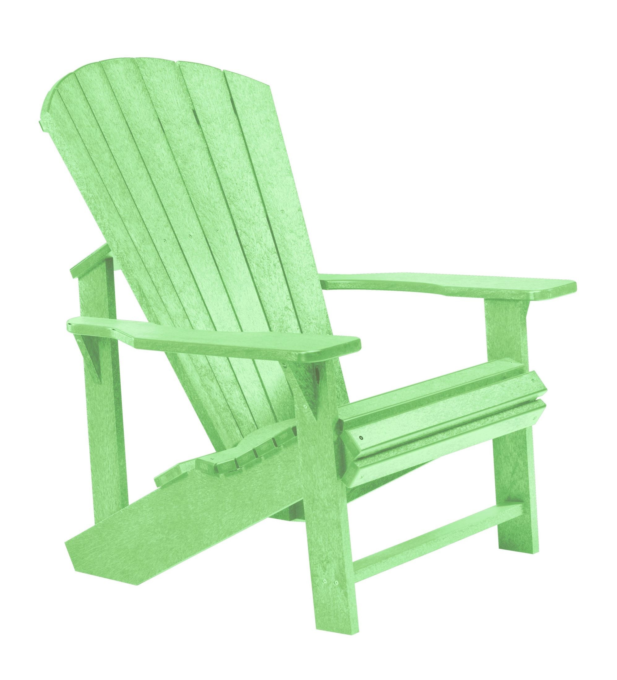 Generations lime green adirondack chair from cr plastic c01 15 coleman furniture - Green resin adirondack chairs ...