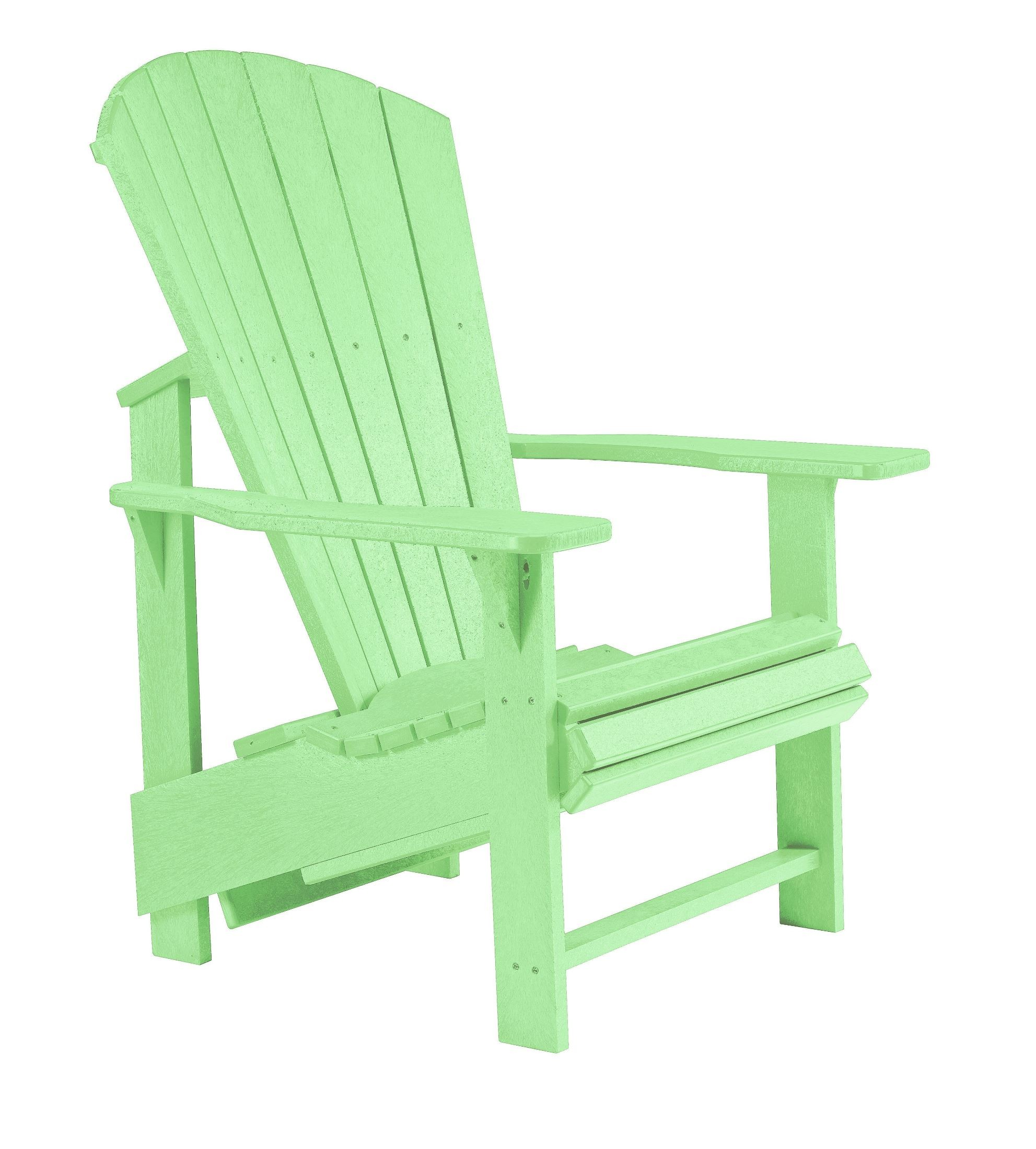 Generations lime green upright adirondack chair from cr plastic c03 15 coleman furniture - Green resin adirondack chairs ...