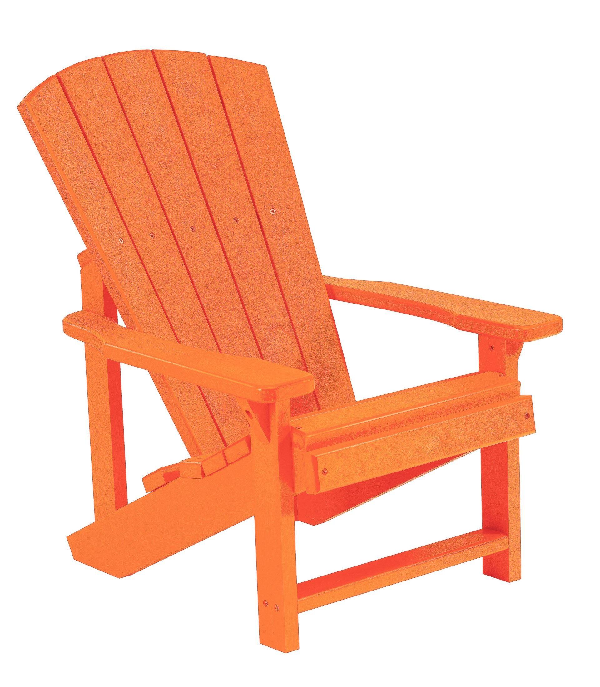 Generations orange kids adirondack chair from cr plastic for Orange kids chair