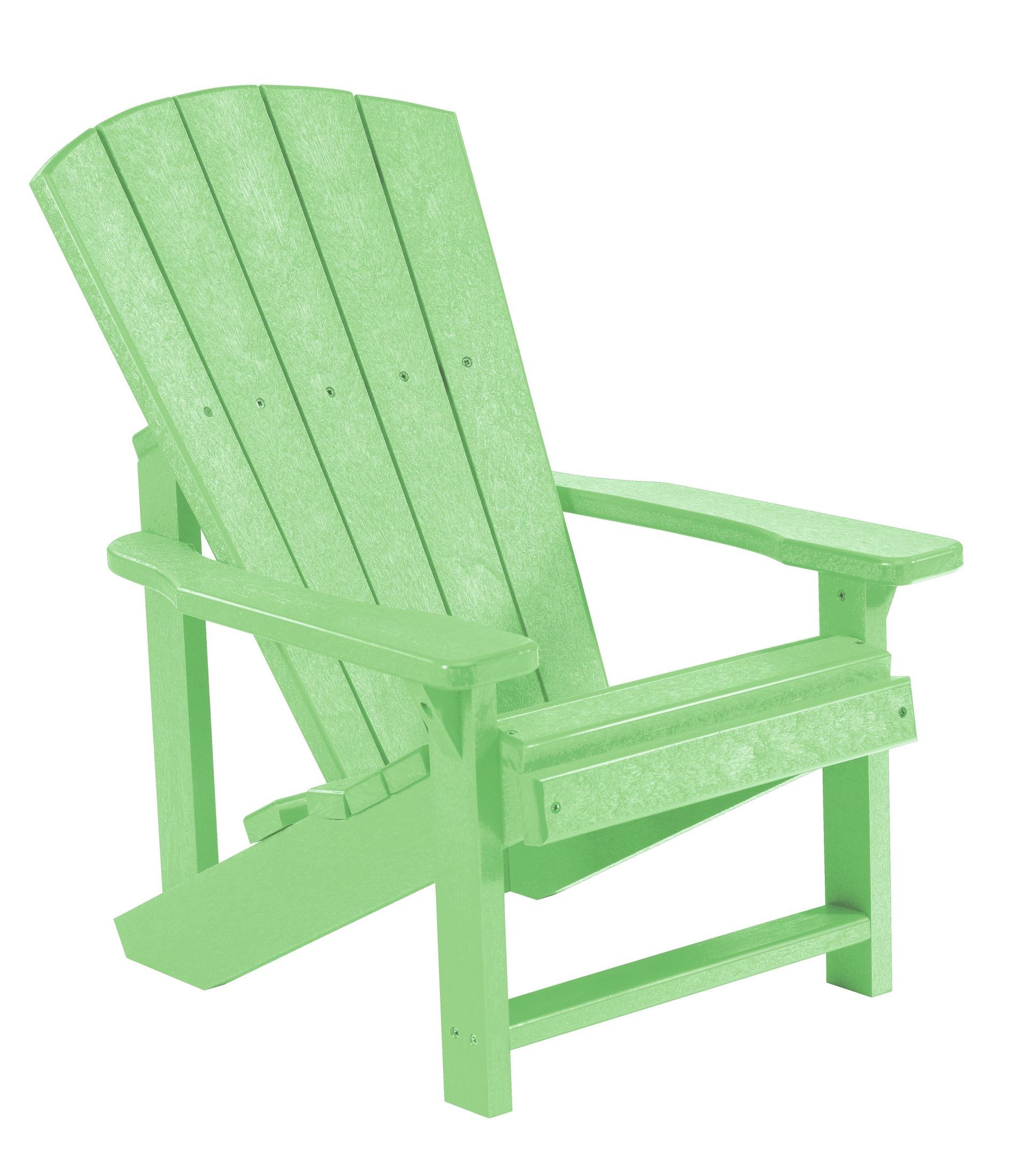 Generations lime green kids adirondack chair from cr plastic c08 15 coleman furniture - Green resin adirondack chairs ...