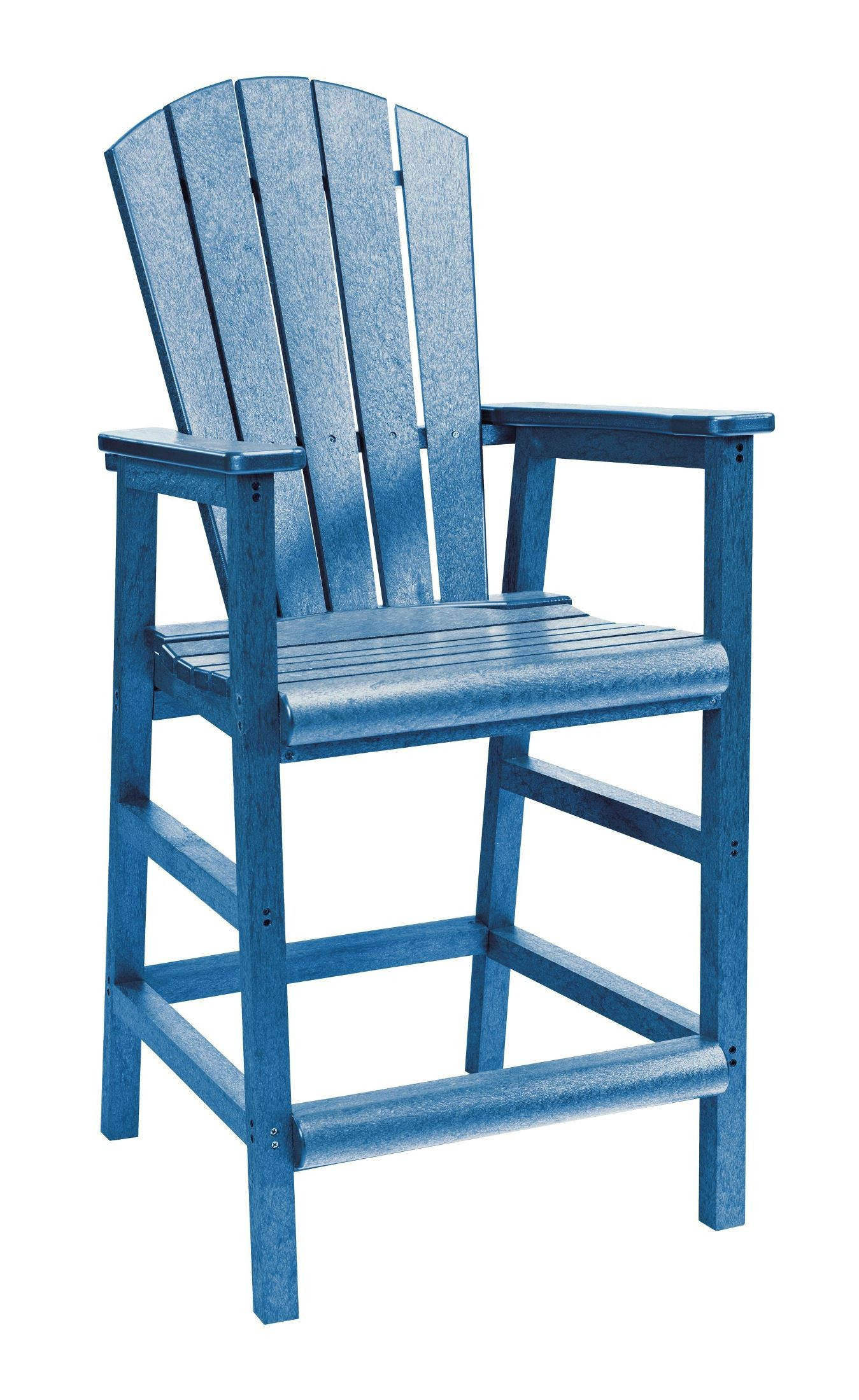 generations blue adirondack dining pub arm chair from cr plastic c20