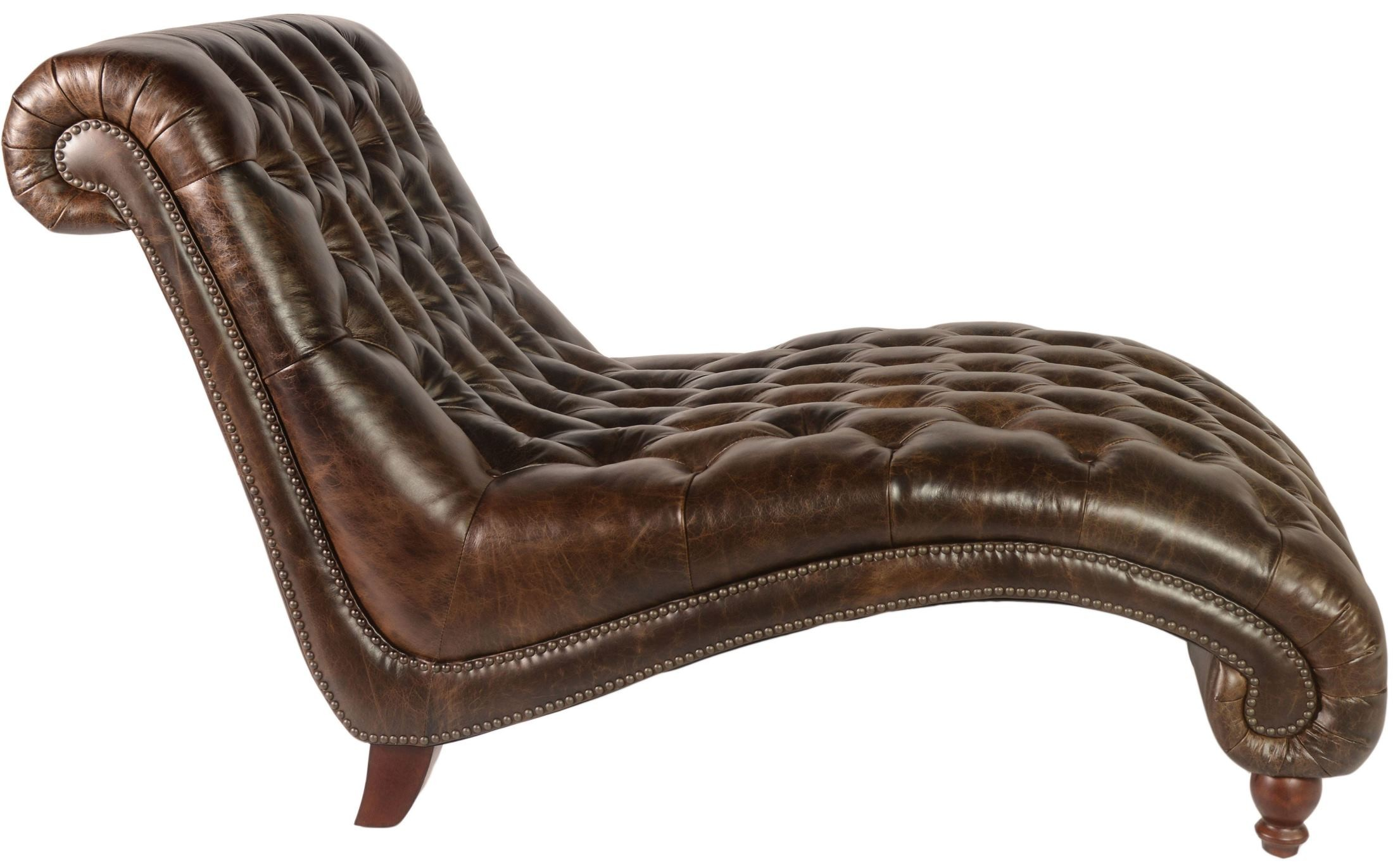 Cathay brompton chocolate leather chaise and half wh for Chaise and a half