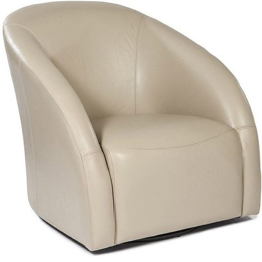 Maryland taupe leather swivel tub chair and ottoman wh for Leather swivel tub chair