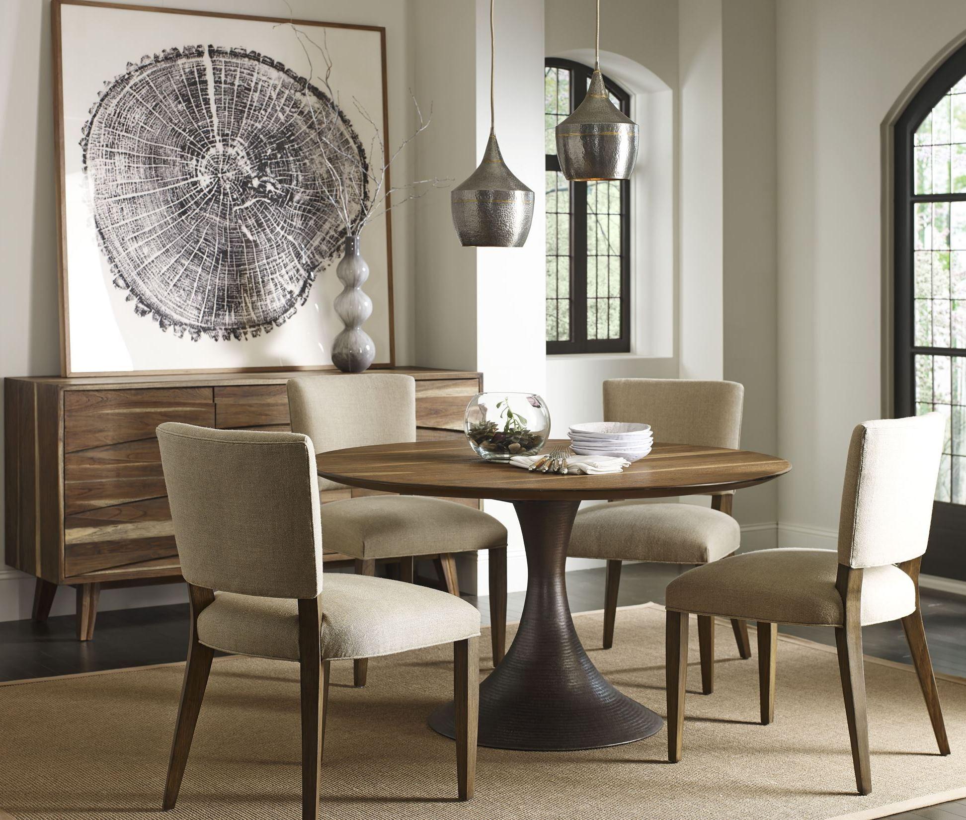 casablanca walnut round dining room set caw301t ca301ab