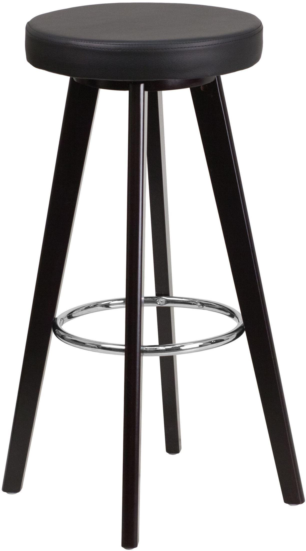 Trenton Series 29inch High Contemporary Black Vinyl Bar