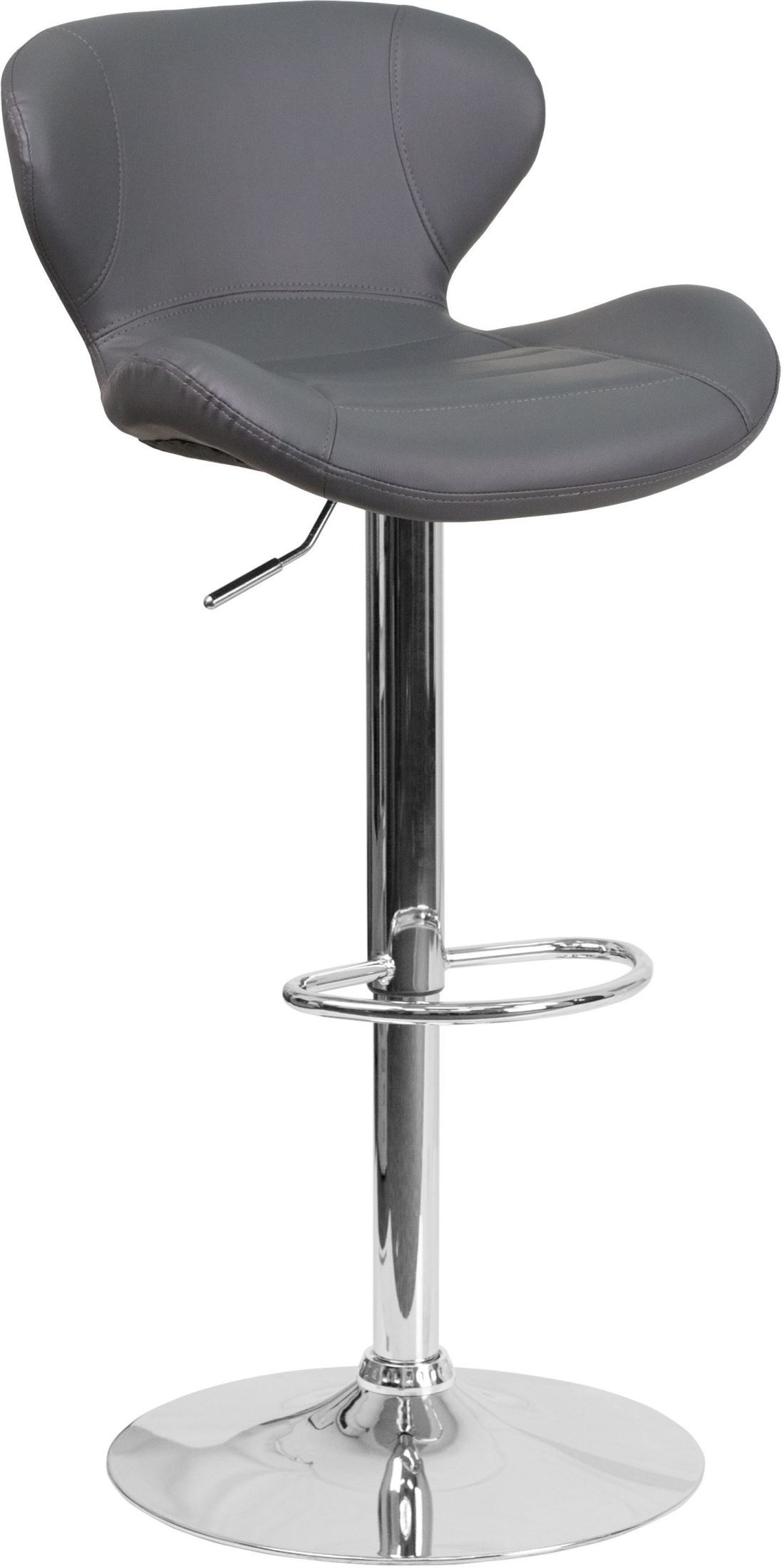 Contemporary Swivel Gray Vinyl Adjustable Height Barstool  : ch 321 gy gg from colemanfurniture.com size 1100 x 2200 jpeg 163kB