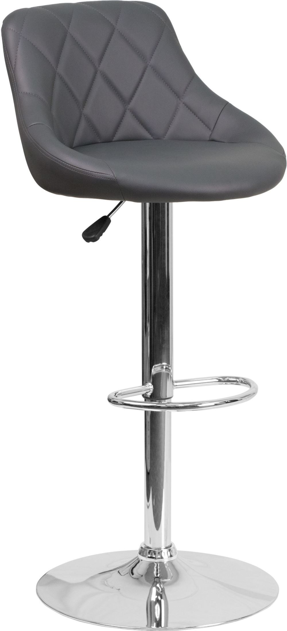 Contemporary Gray Vinyl Bucket Seat Adjustable Height  : ch 82028a gy gg from colemanfurniture.com size 1000 x 2200 jpeg 154kB