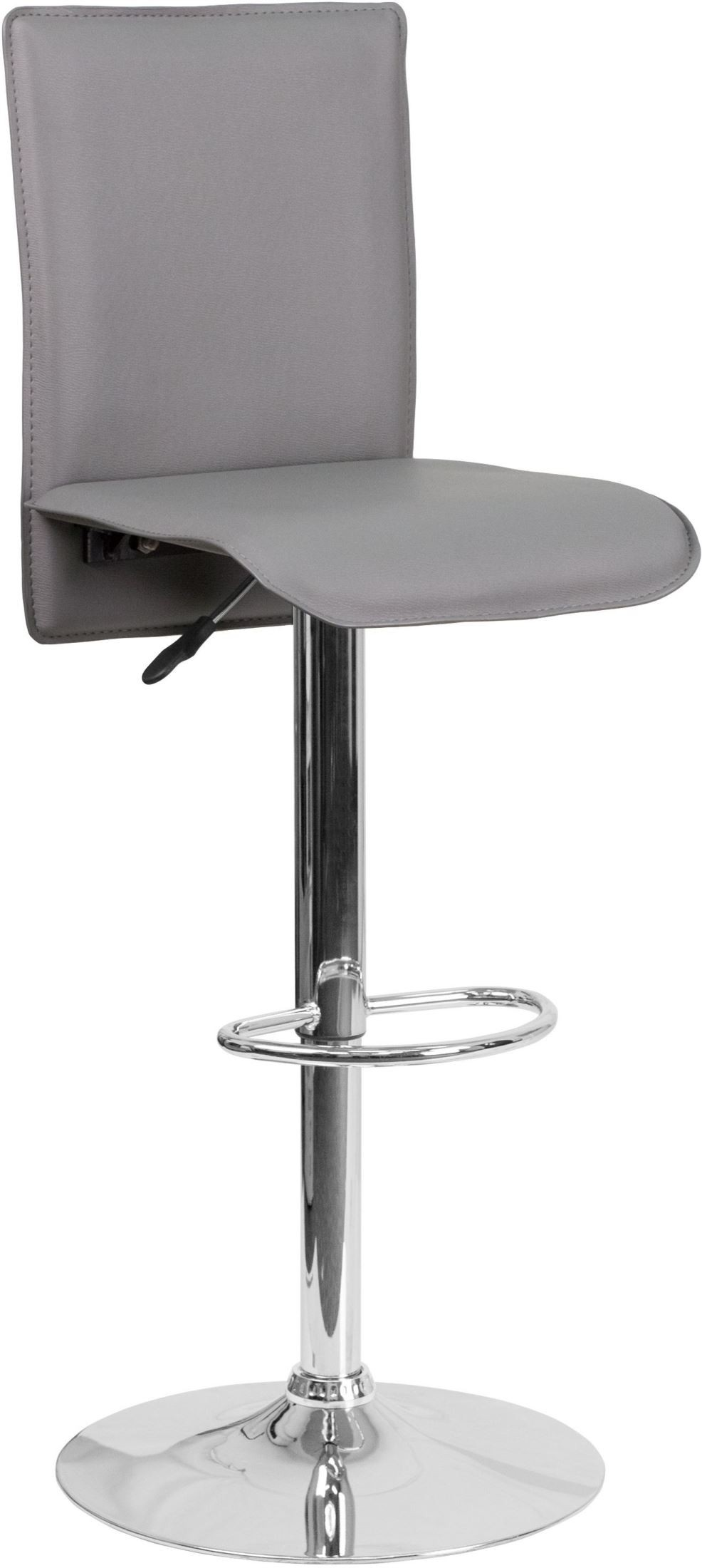 Mid Back Swivel Gray Vinyl Adjustable Height Bar Stool CH  : ch tc3 1206 gy gg from colemanfurniture.com size 986 x 2200 jpeg 155kB