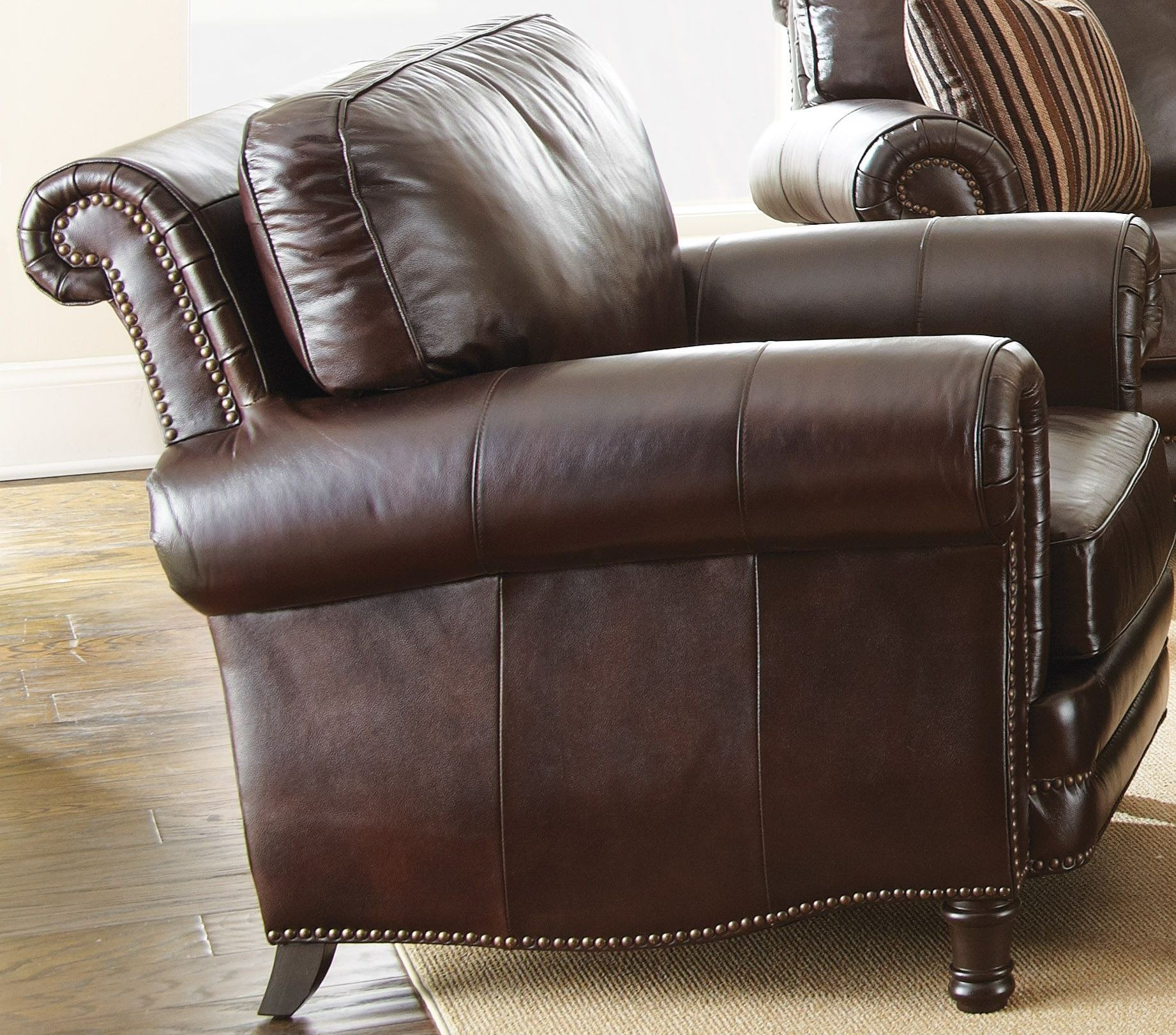 Chateau Top Grain Leather Chair from Steve Silver CH860C