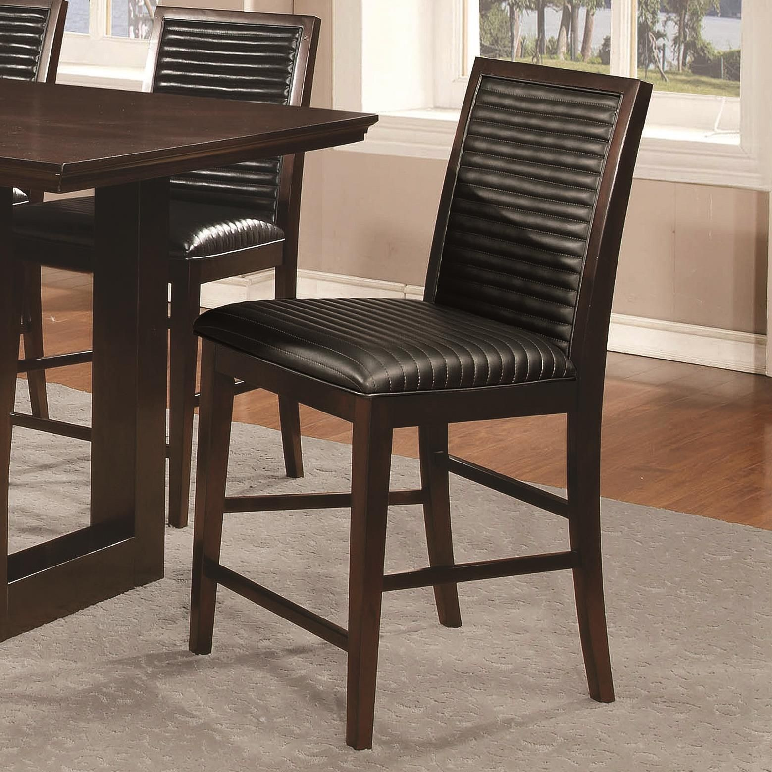 Chester Upholstered Counter Height Chair Set of 2 from Coaster (105727 ...