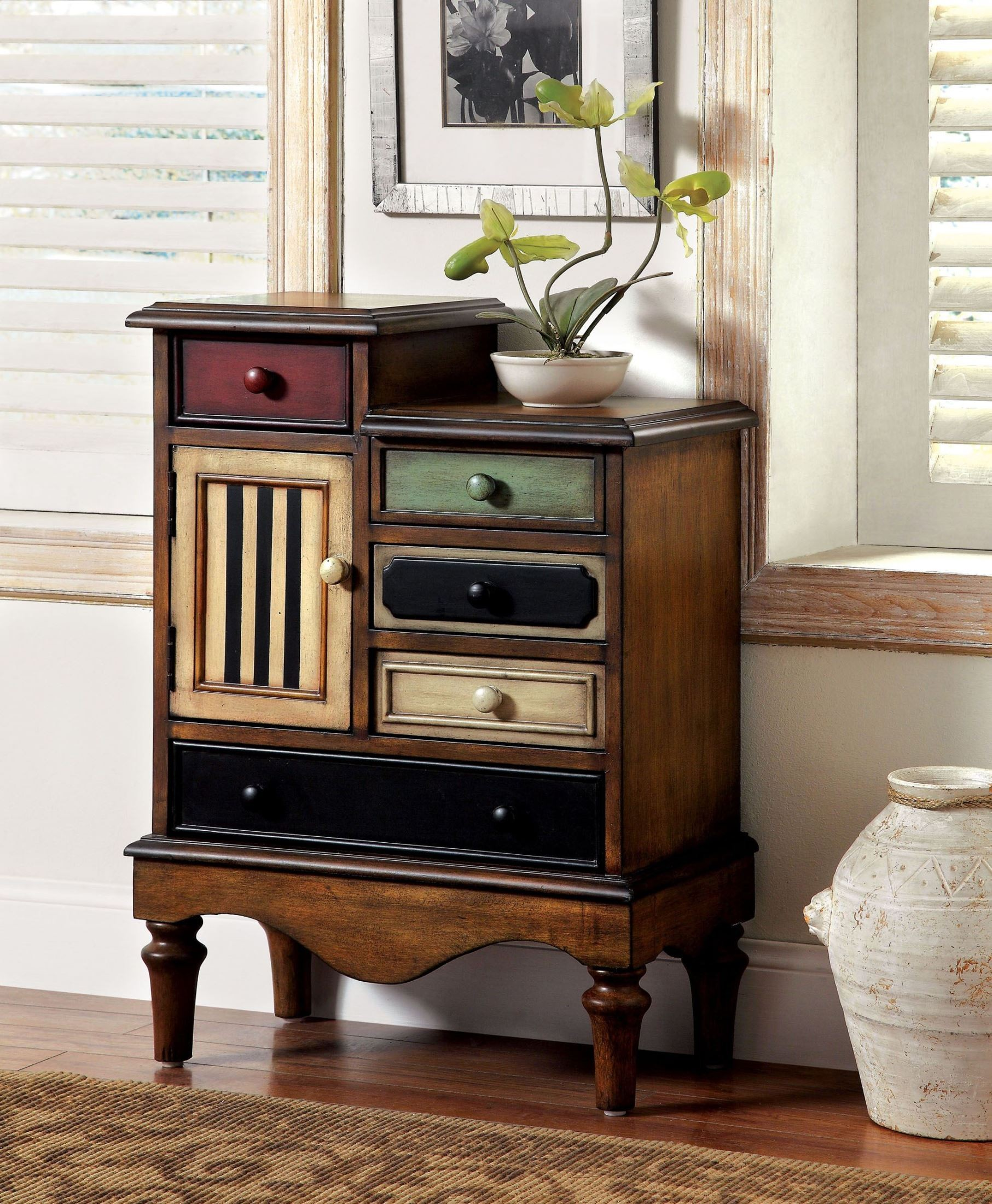 Neche multi color accent chest from furniture of america for Furniture of america furniture