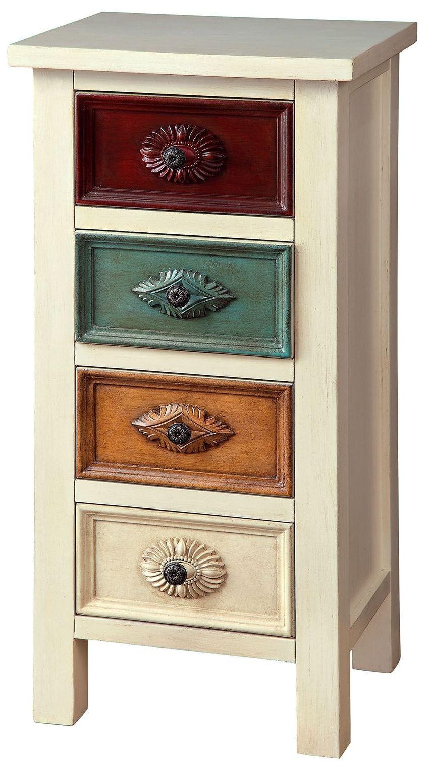 Shari antique white hallway cabinet cm ac305 furniture for Antique white usa kitchen cabinets
