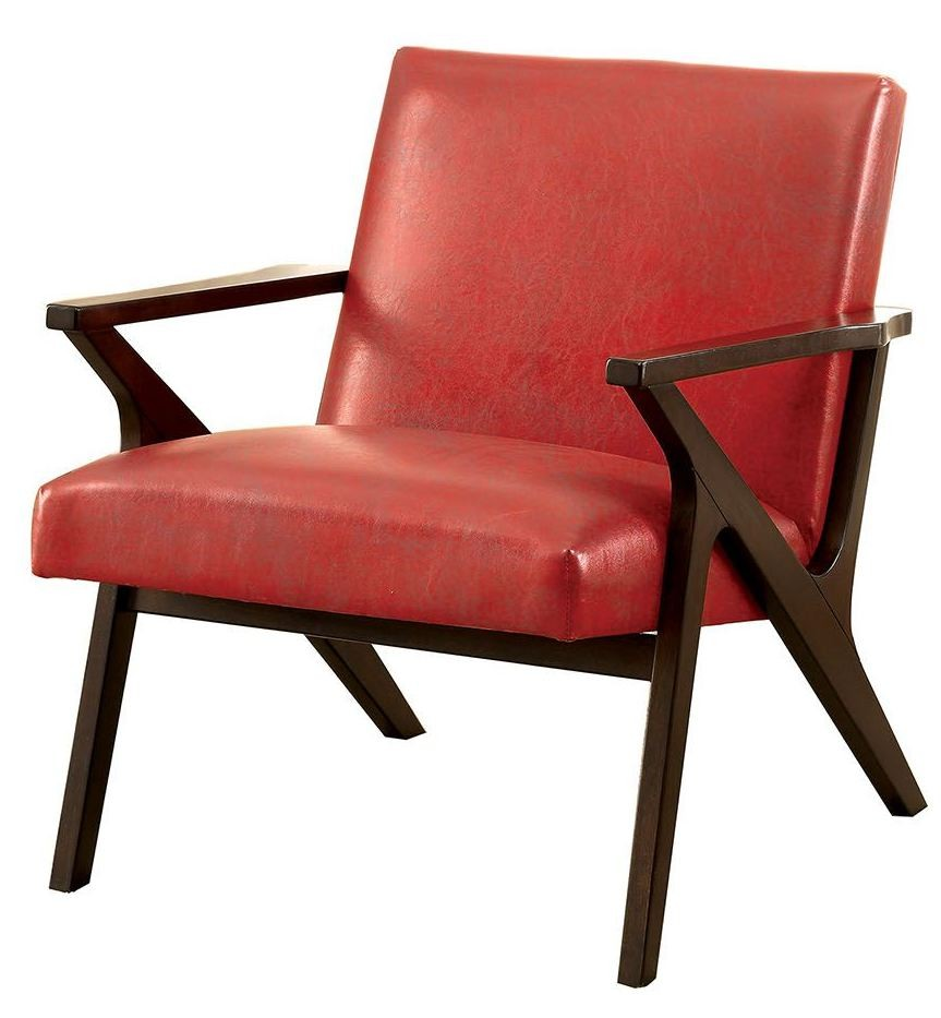 Margaux Red Accent Chair CM AC6265RD Furniture Of America