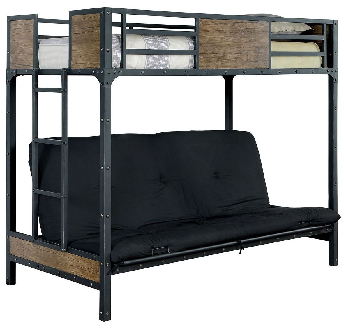 Twin Bed Sofa Bed: Clapton Twin Bed With Futon Base, CM-BK029TS, Furniture Of