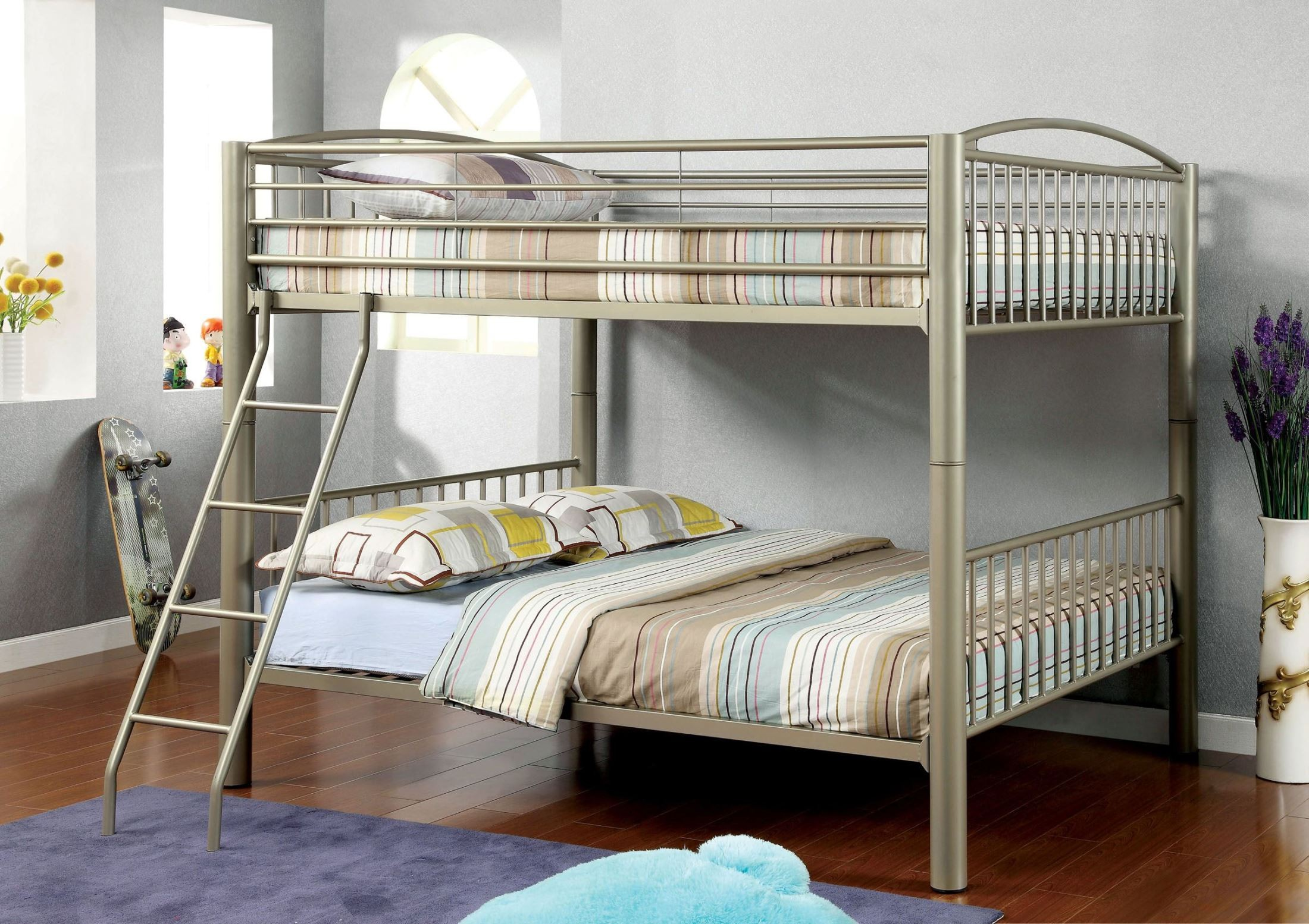 lovia full over full metal bunk bed from furniture of. Black Bedroom Furniture Sets. Home Design Ideas