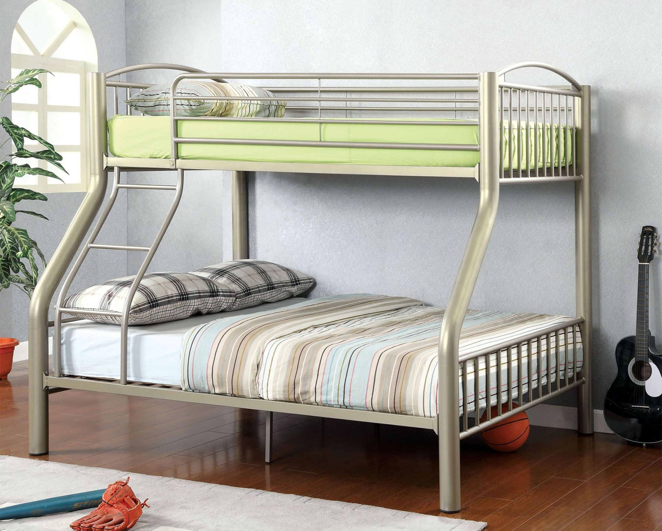 Lovia Twin Over Full Metal Bunk Bed from Furniture of