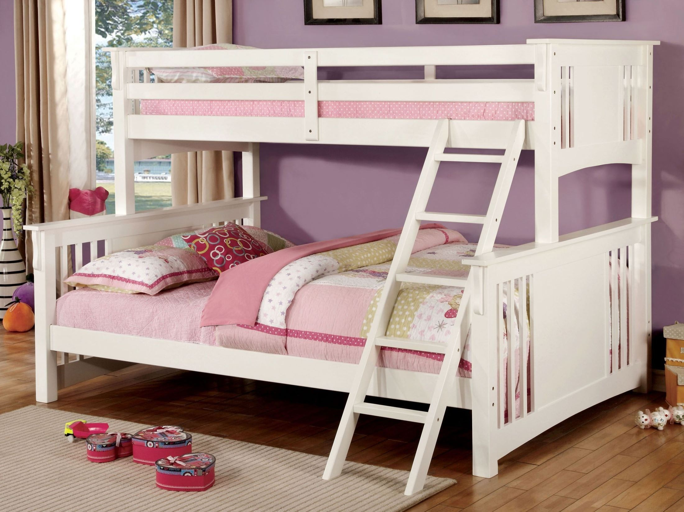 Spring creek white twin extra large twin over queen bunk for White twin bunk beds
