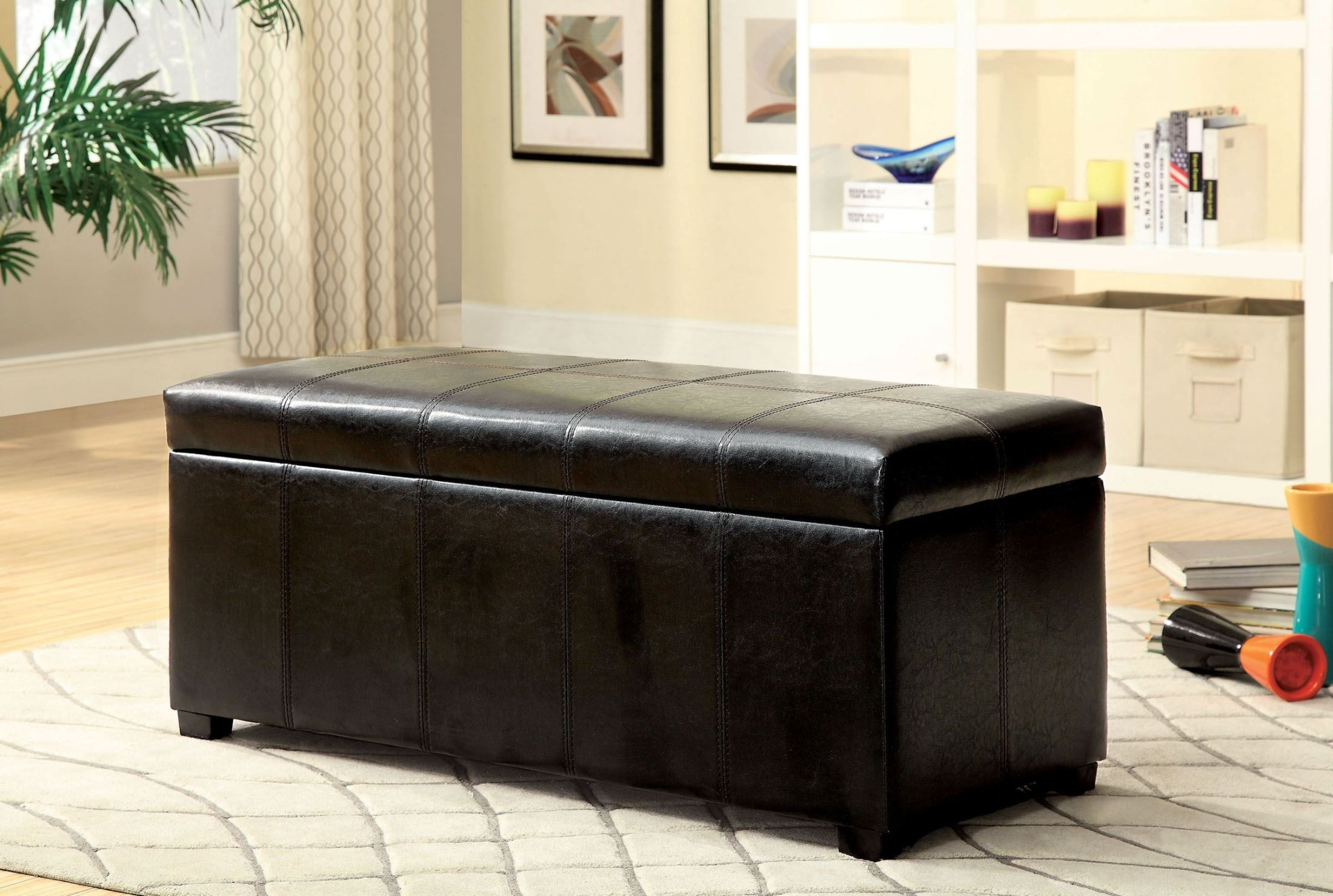 Polson Brown Storage Bench From Furniture Of America Cm Bn6198 Coleman Furniture
